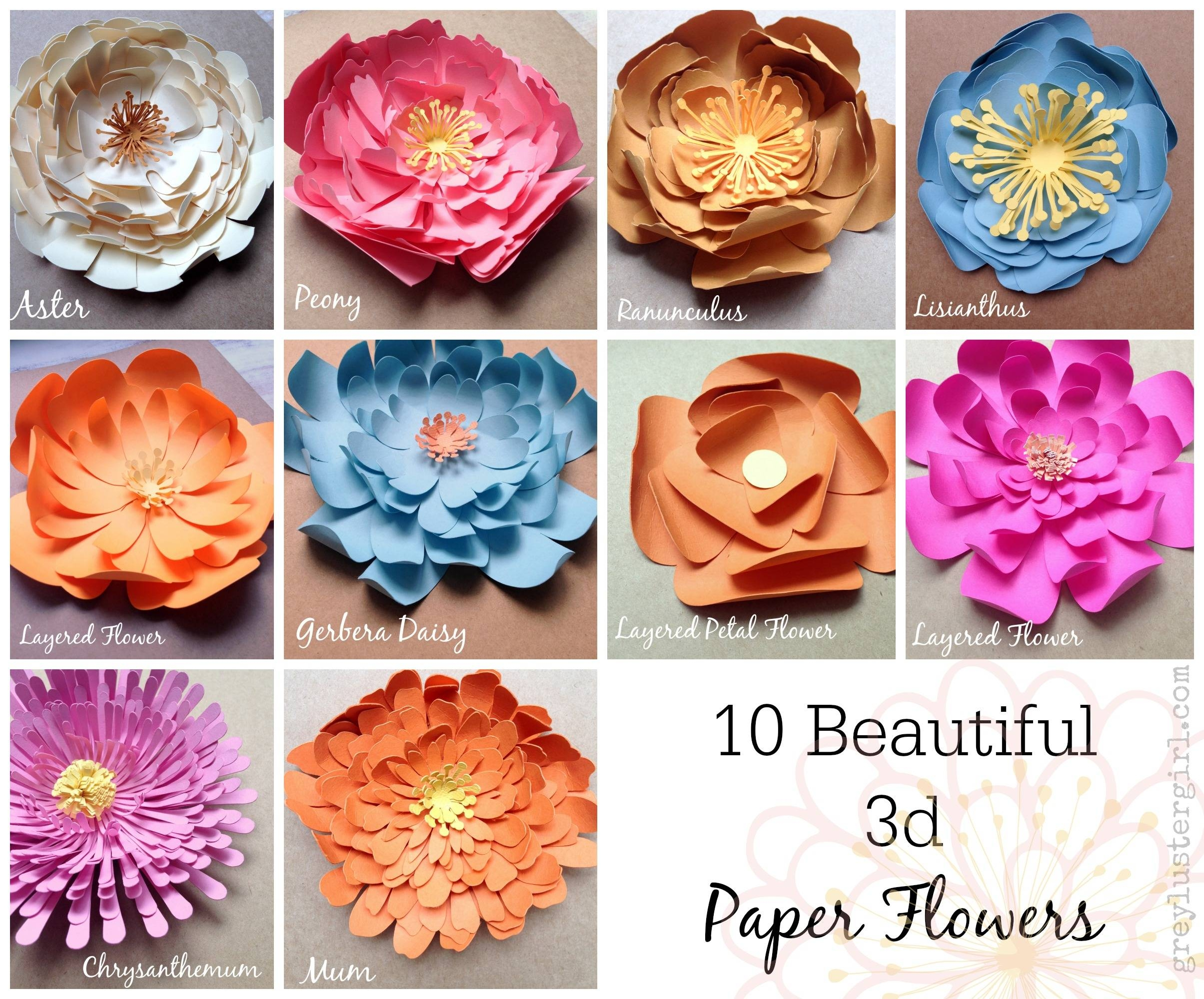 Paper Flowers Wall Art – With Regard To Most Current Diy 3d Paper Wall Art (View 8 of 20)