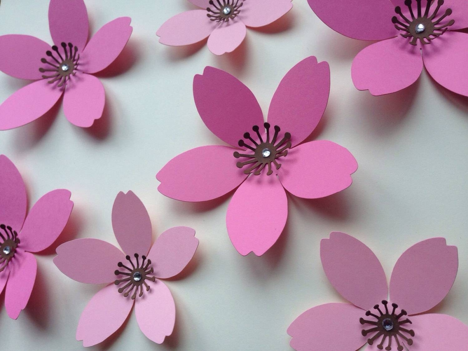 Paper Wall 3D Flower 3D Wall Art Paper Flower Wall Paper Throughout Best And Newest Flowers 3D Wall Art (View 19 of 20)