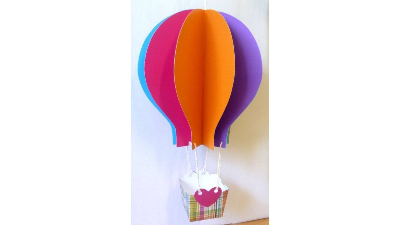 Papercraft Hot Air Balloon Tutorial With Free Patternlisa Pay Throughout Best And Newest Air Balloon 3D Wall Art (View 14 of 20)