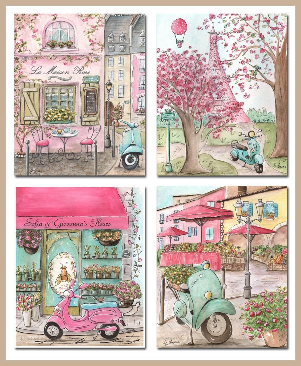 Paris Art Prints Paris Decor Paris Bedroom Decor Paris Within Current Paris Theme Nursery Wall Art (View 22 of 30)