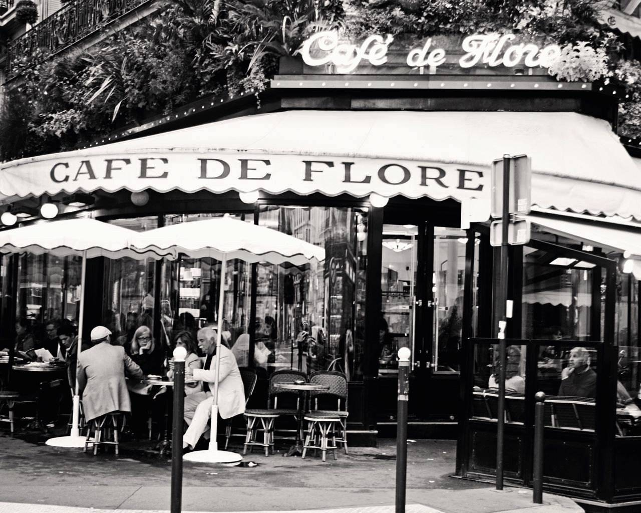 Paris Cafe Photography Black And White Photography Cafe De With Regard To Most Recently Released Black And White Paris Wall Art (View 14 of 25)