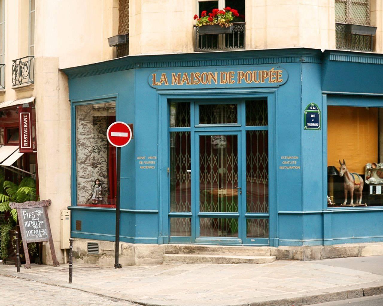 Paris Photography France La Maison De Poupee Photograph Intended For 2017 Street Scene Wall Art (View 4 of 25)