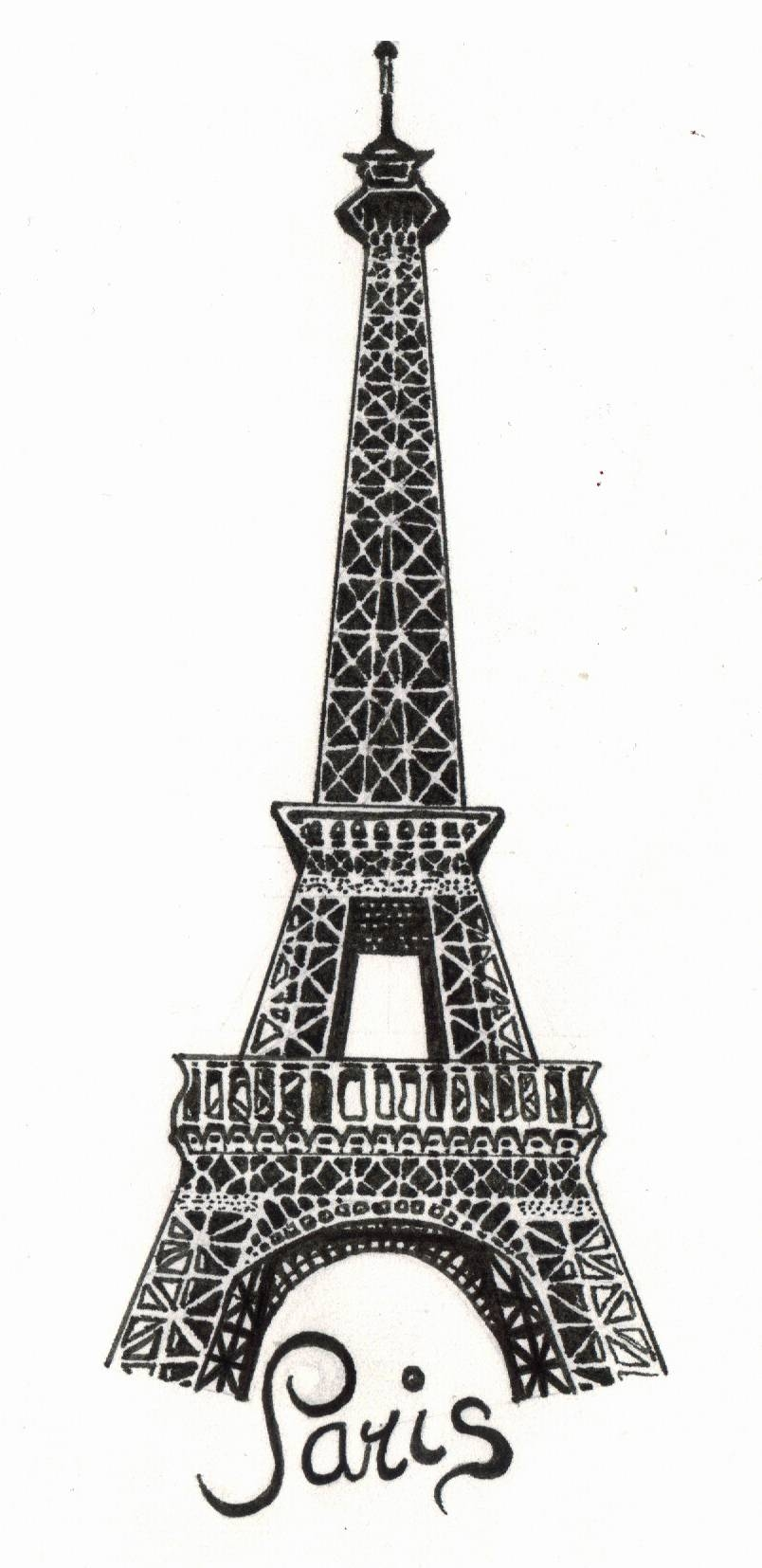 Paris – The Eiffel Towerthe Snow White On Deviantart Intended For Most Current Metal Eiffel Tower Wall Art (View 7 of 30)