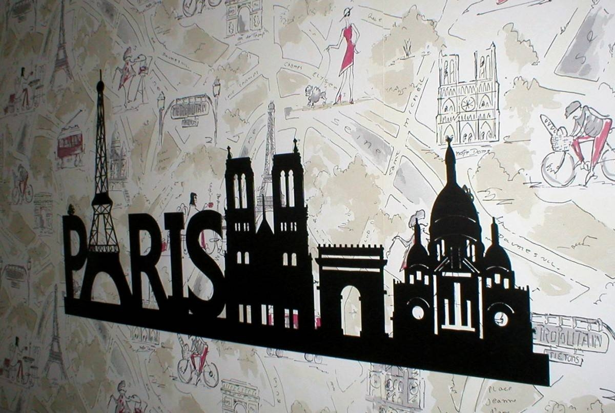 Paris Themed Bathroom Wall Decor — Office And Bedroom Pertaining To Newest Paris Theme Wall Art (View 22 of 30)