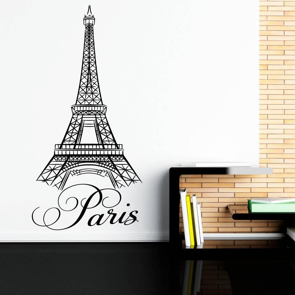 Paris Wall Decals Vinyl Stickers Paris Letters Wall Art Vinyl Regarding Best And Newest Paris Vinyl Wall Art (View 8 of 20)