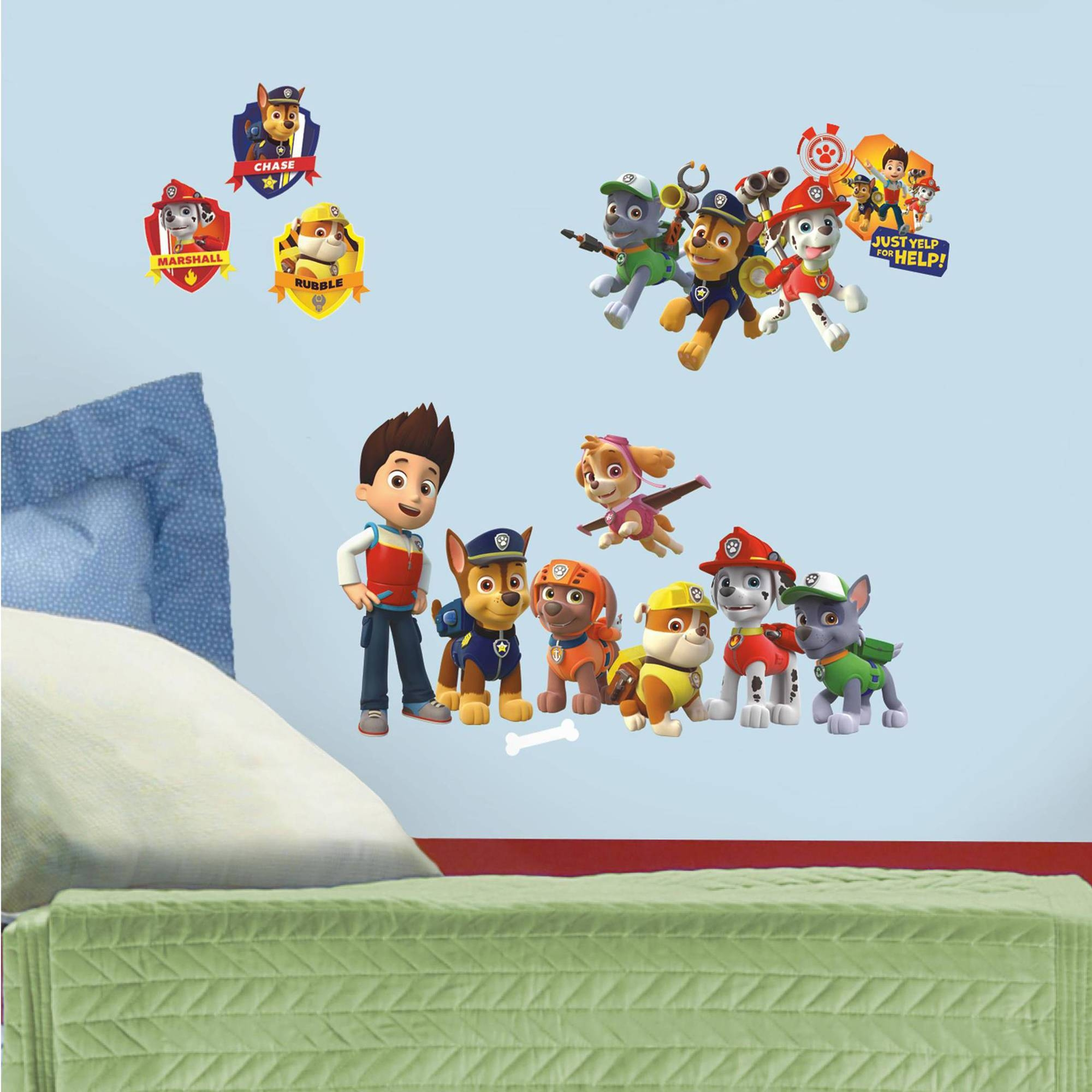 Paw Patrol Peel And Stick Wall Decals – Walmart In 2017 Preschool Classroom Wall Decals (View 16 of 30)
