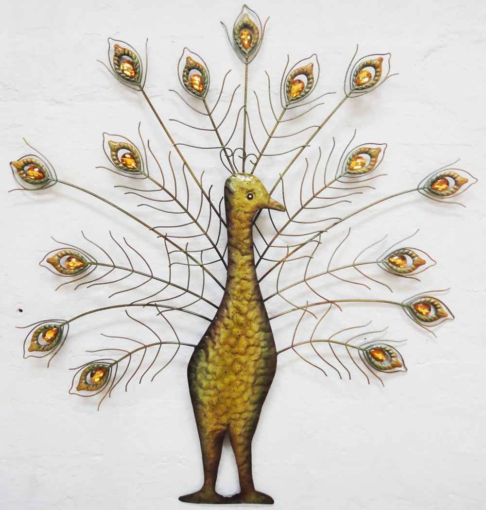Peacock Metal Wall Decor | Metal Wall Art | Contemporary Art Range With Regard To Most Recent Metal Peacock Wall Art (View 11 of 20)