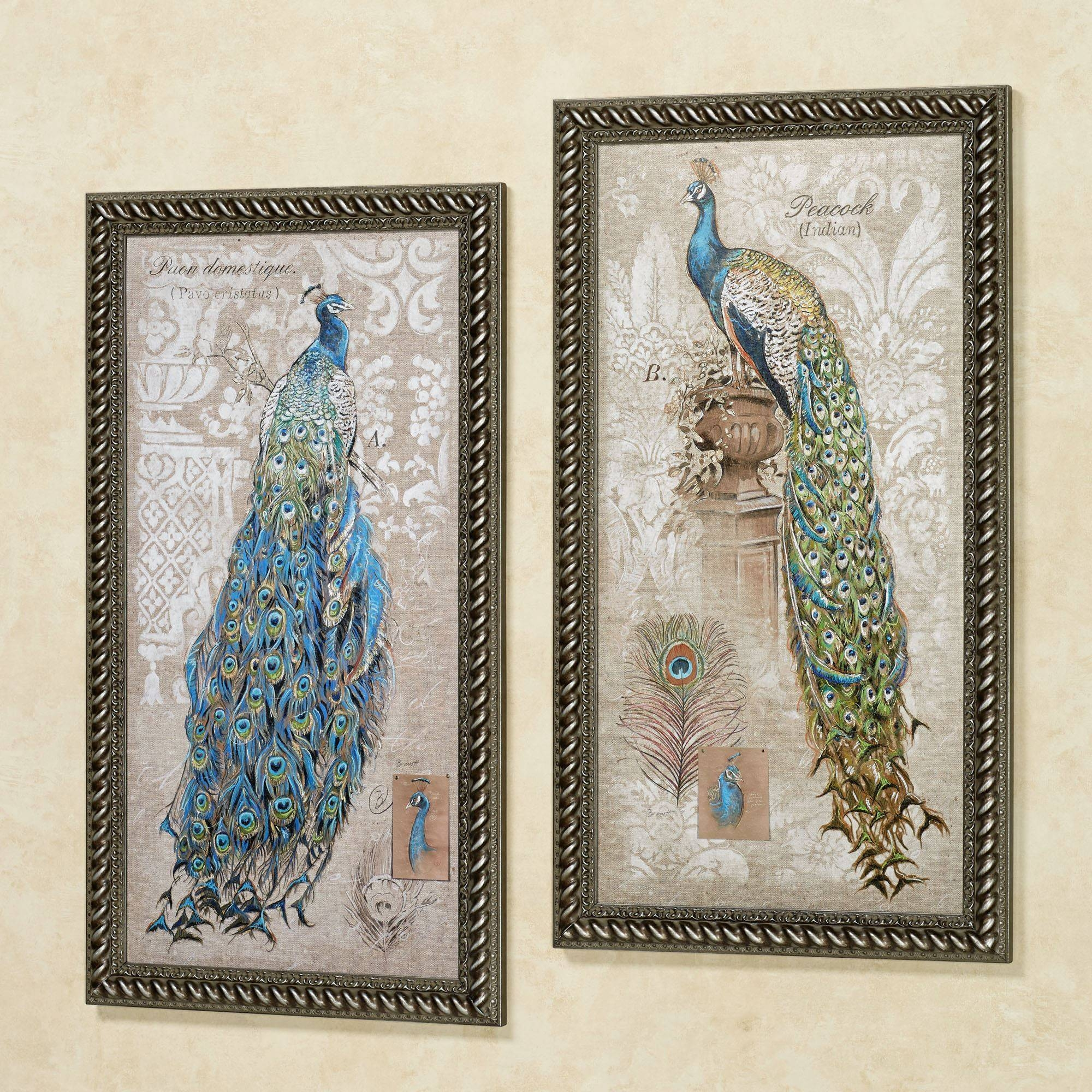 Peacock Themed Home Decor | Touch Of Class Inside Recent Jeweled Peacock Wall Art (View 9 of 20)