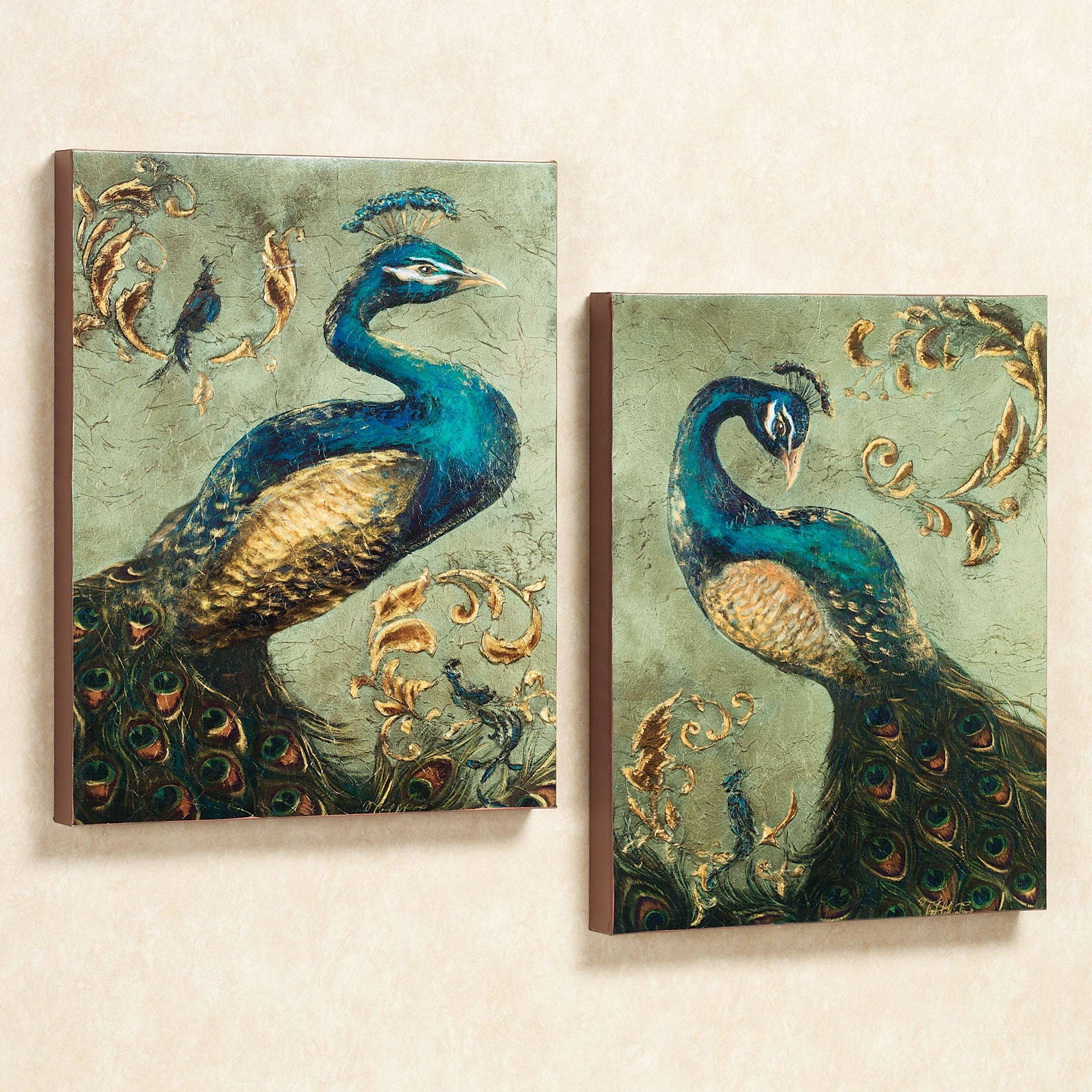 Peacock Themed Home Decor | Touch Of Class Pertaining To 2017 Jeweled Peacock Wall Art (View 10 of 20)