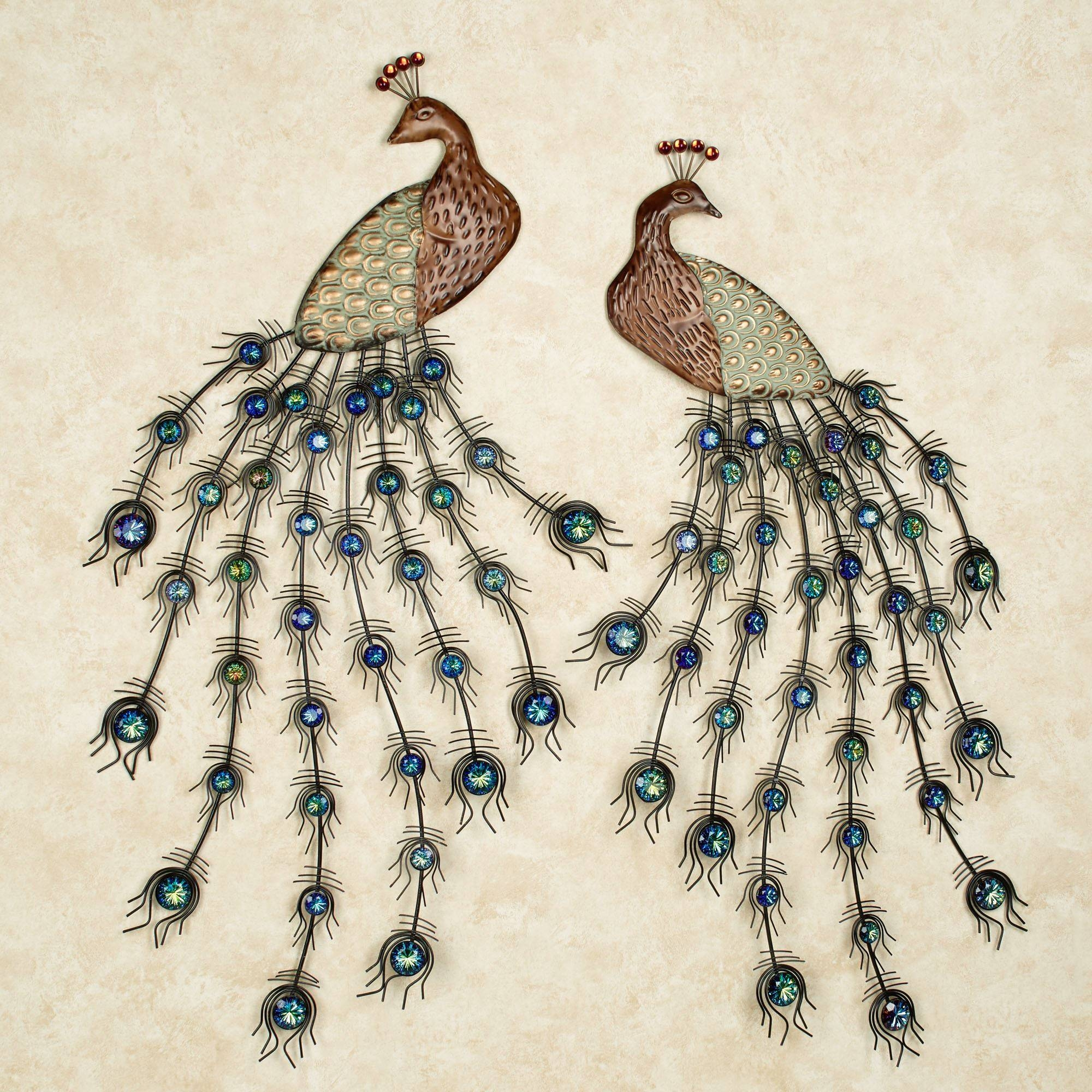 Peacock Themed Home Decor | Touch Of Class With Regard To Best And Newest Jeweled Peacock Wall Art (View 13 of 20)