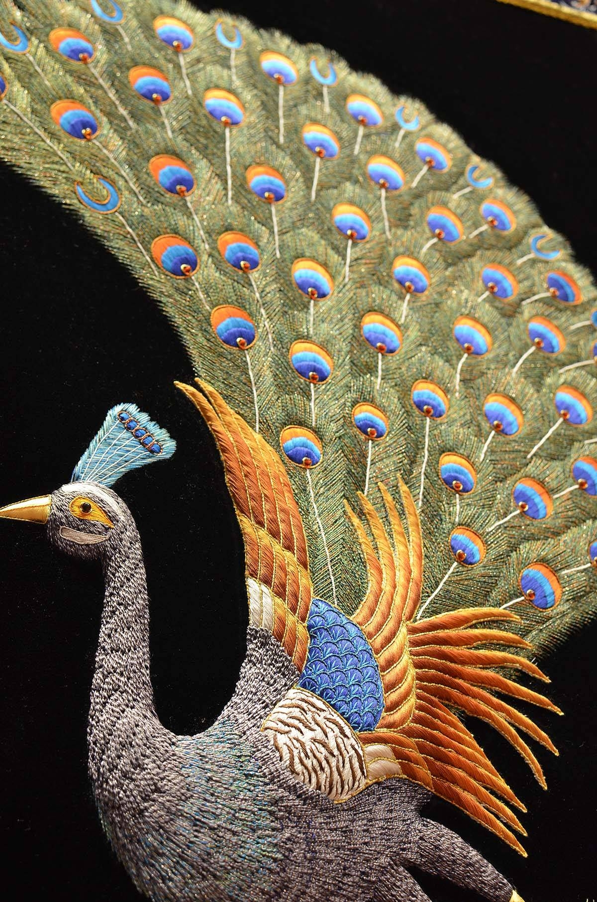 Peacock Wall Art Decorative Panel Jewel Art Tapestry Or Wall For Most Recent Jeweled Peacock Wall Art (View 15 of 20)