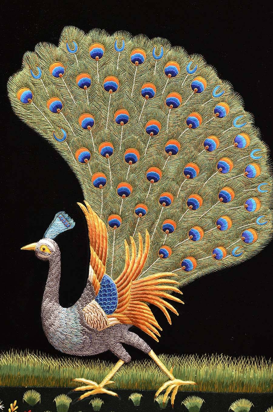 Peacock Wall Art Awesome 2018 Latest Jeweled Peacock Wall Art Review