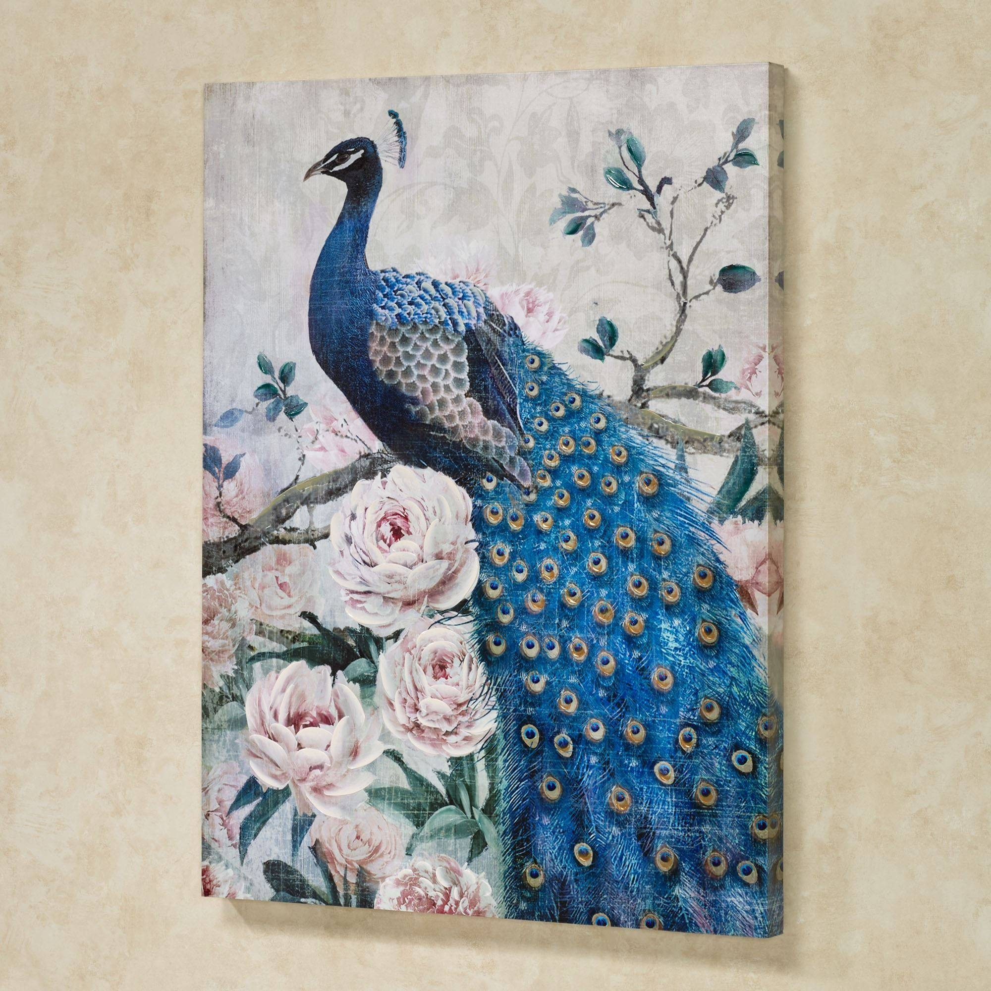 Peacock Wall Art – Home Design With Regard To Most Current Jeweled Peacock Wall Art (View 14 of 20)