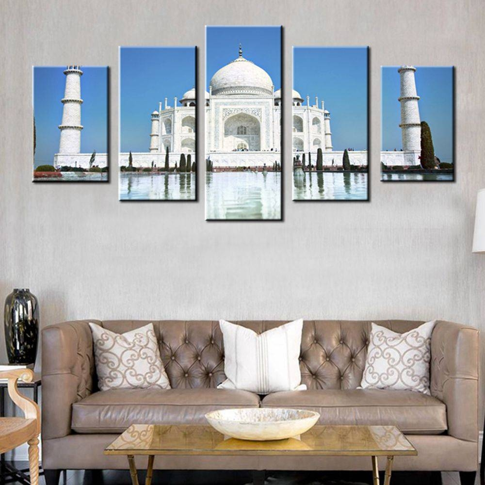 Pearl Of India Taj Mahal World Cultural Heritage Photo Hd Print 5 Within 2017 Taj Mahal Wall Art (View 15 of 25)