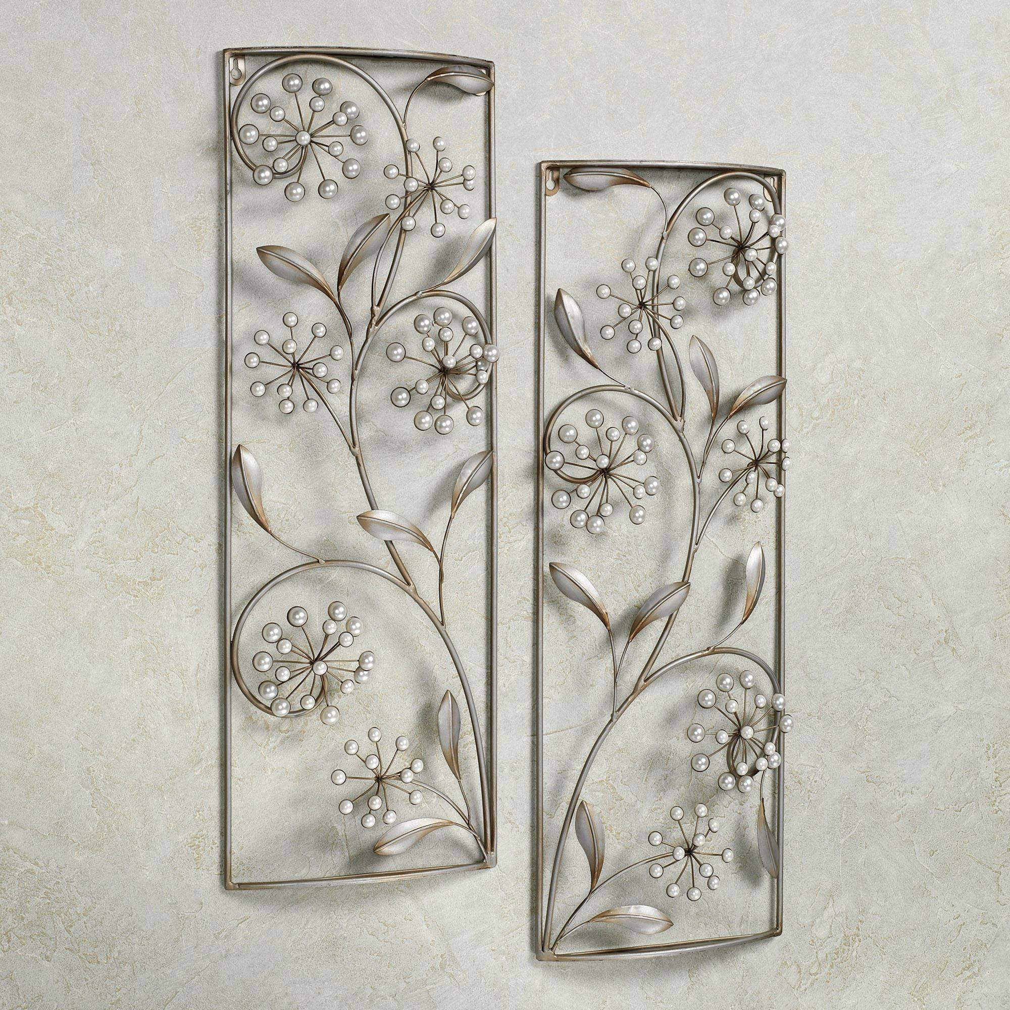Pearlette Metal Wall Art Panel Set For Newest Rectangular Metal Wall Art (View 2 of 20)