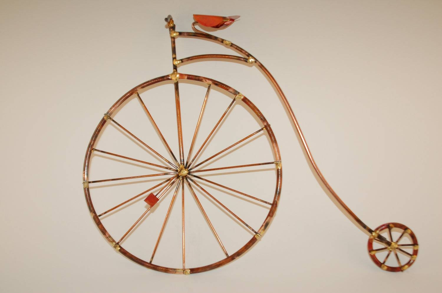 Penny Farthing Bikes Old Fashion Giant Bicyclehigh With Most Popular Metal Bicycle Wall Art (View 6 of 20)