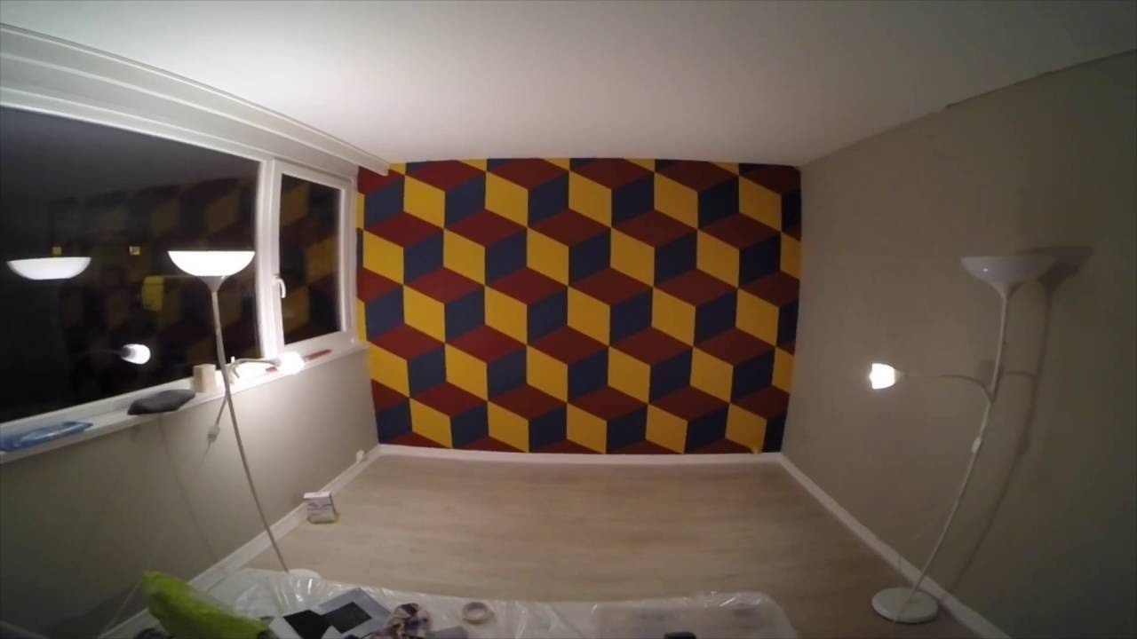 Perfect 3D Wall Painting ! – Youtube For Most Recently Released Cubes 3D Wall Art (View 4 of 20)
