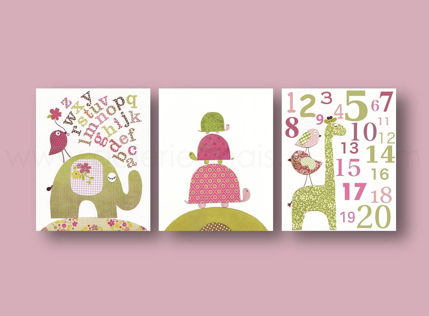 Perfect Ideas Baby Wall Art Beautiful Design Baby Girl Room Decor Regarding Best And Newest Baby Wall Art (View 22 of 30)