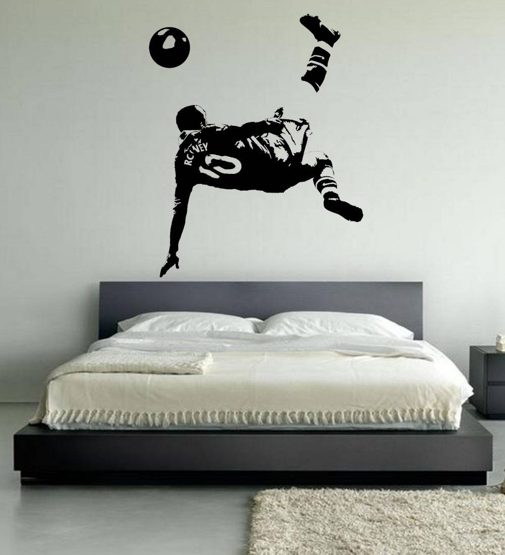Perfect Large Wayne Rooney Font B Wall B Font Font B Art B Font Throughout Recent Bedroom Wall Art (View 19 of 25)