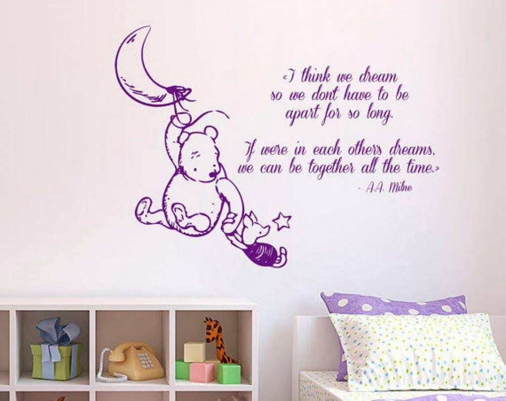 Perfect Winnie The Pooh Quotes Wall Decor Inspirations   Interior With Regard To Newest Winnie The Pooh Wall Art For Nursery (View 7 of 15)