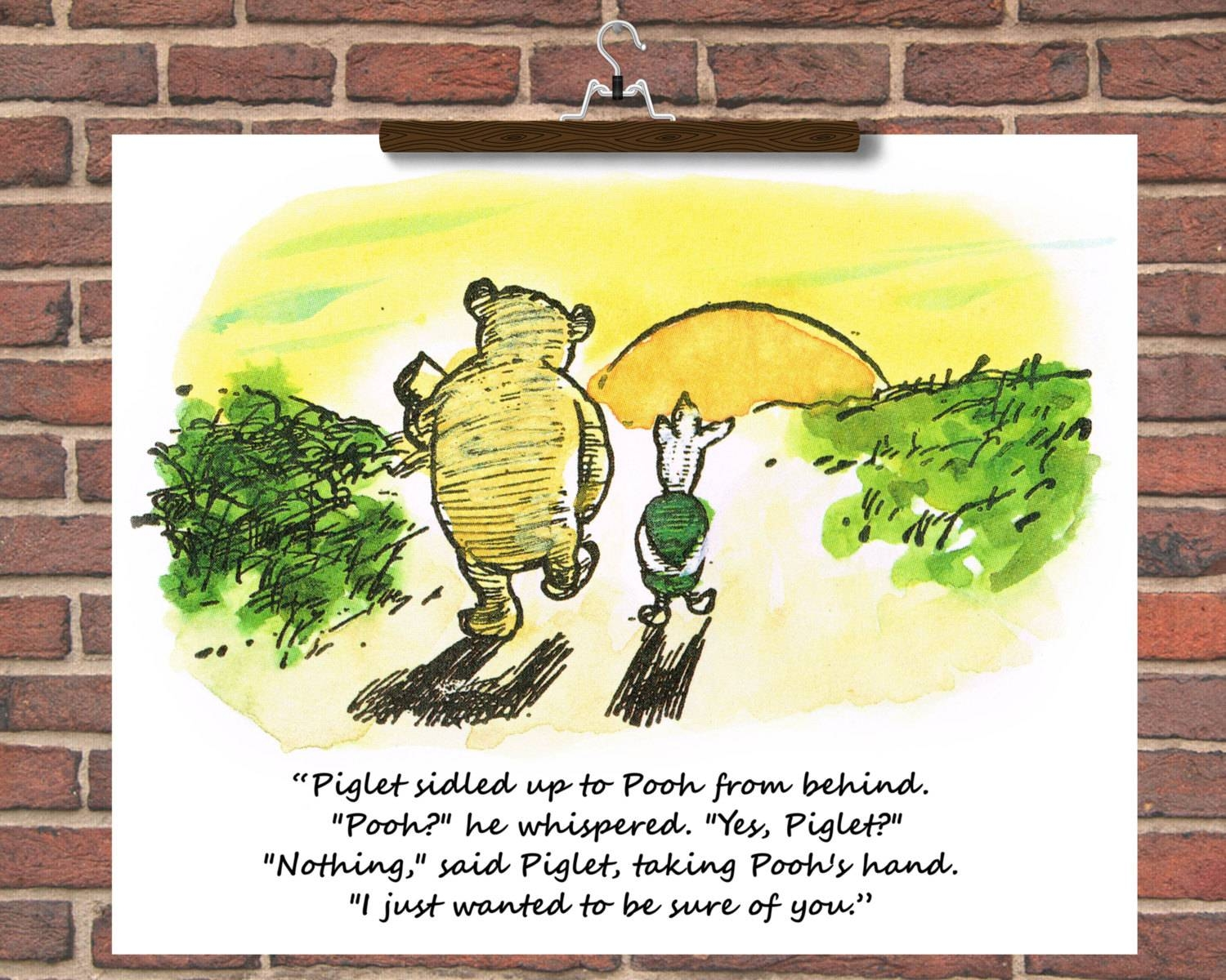 Personalise Winnie The Pooh Wedding Quotes Winnie The Pooh With Regard To Most Recently Released Winnie The Pooh Nursery Quotes Wall Art (View 17 of 20)