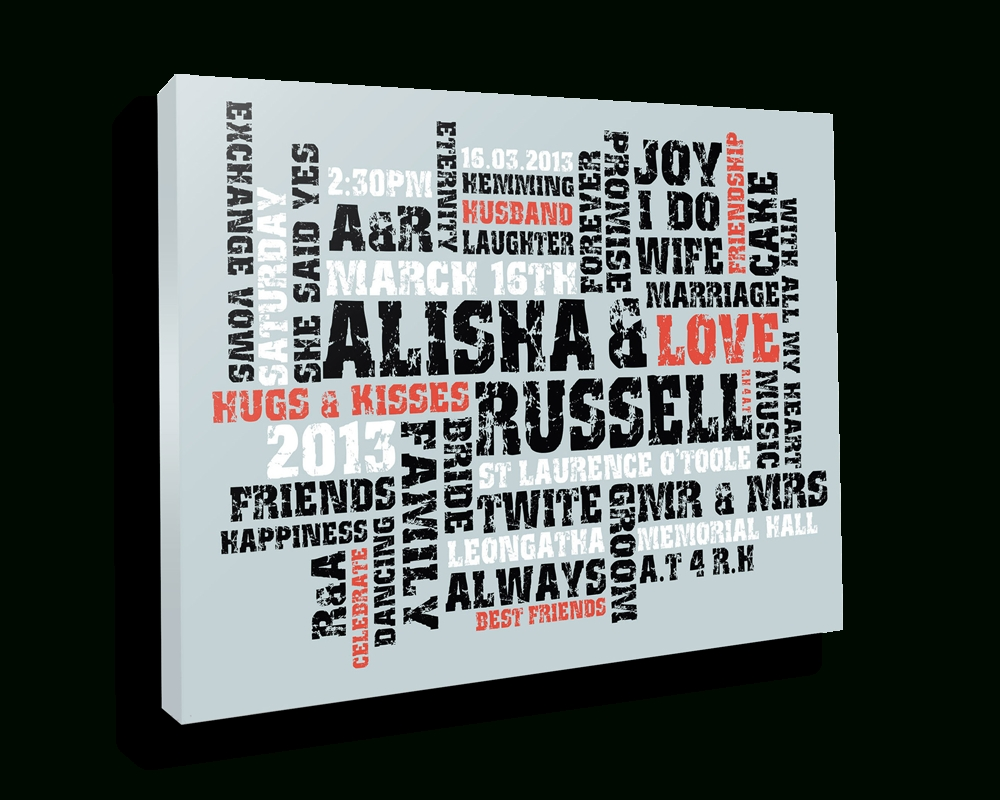 Personalised Canvas Prints With Words – Beyond A Word With Regard To Most Recently Released Custom Canvas Art With Words (View 3 of 20)