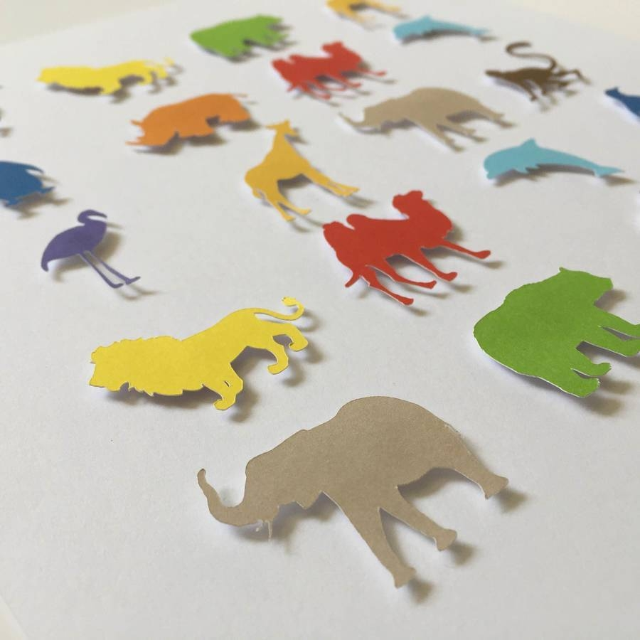 Personalised Framed 3D Zoo Animal Paper Wall Artframes With Regard To Most Recently Released 3D Paper Wall Art (View 18 of 25)
