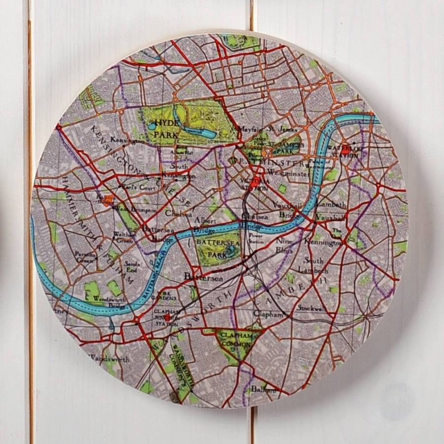 Personalised Map Location 3D Circle Wall Artbombus For Newest 3D Circle Wall Art (View 13 of 20)