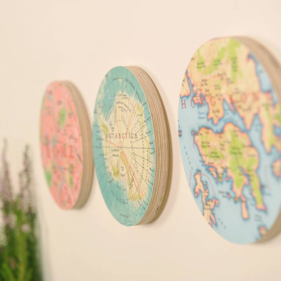 Personalised Map Location 3d Circle Wall Artbombus Regarding Most Current Circles 3d Wall Art (View 10 of 20)