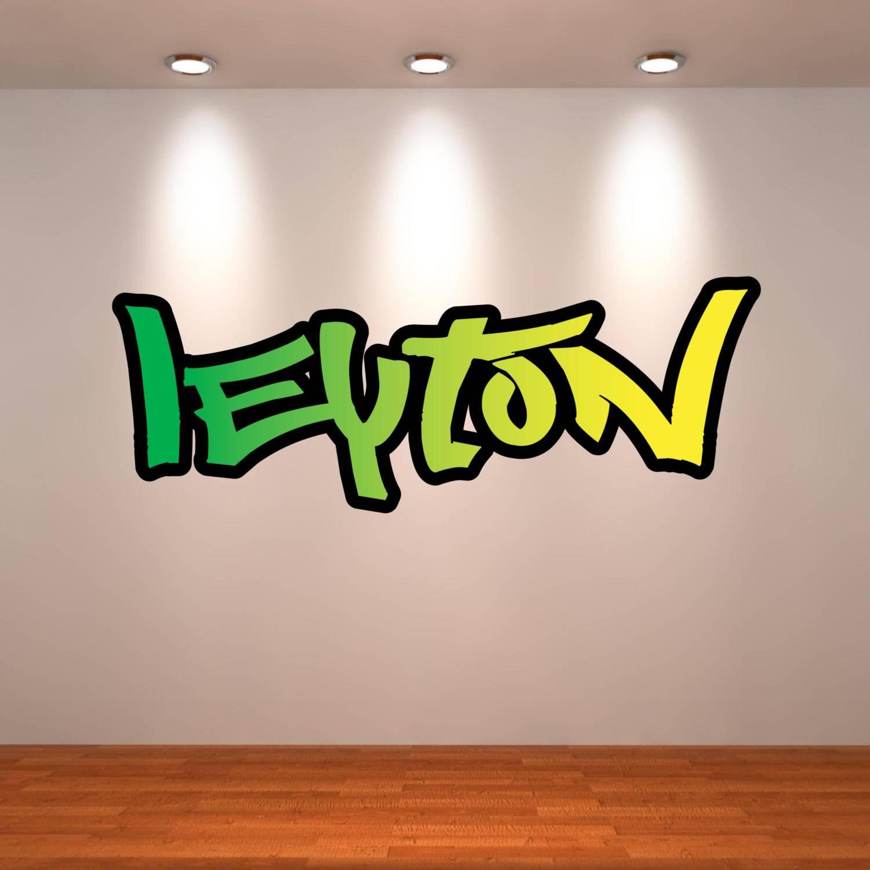 Personalised Wall Decal Graffiti Name Wall Art Sticker Inside Newest Graffiti Wall Art Stickers (View 12 of 30)