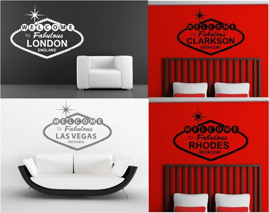 Personalised Welcome To Fabulous Wall Art Graphics Stickers Pertaining To Current Graphic Design Wall Art (View 11 of 20)
