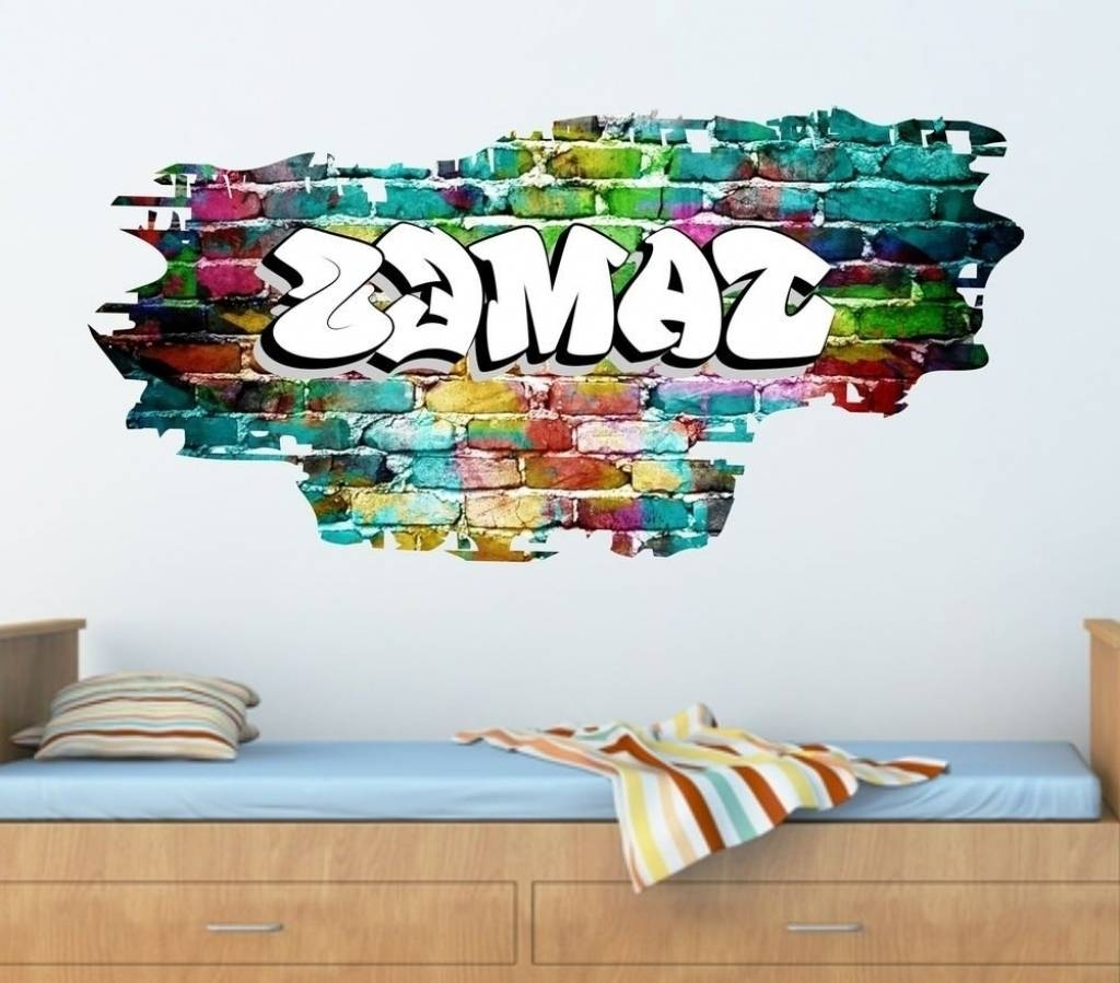 Personalized Graffiti Wall Art Custom Graffiti Wall Decals With Regard To Latest Personalized Graffiti Wall Art (View 2 of 30)