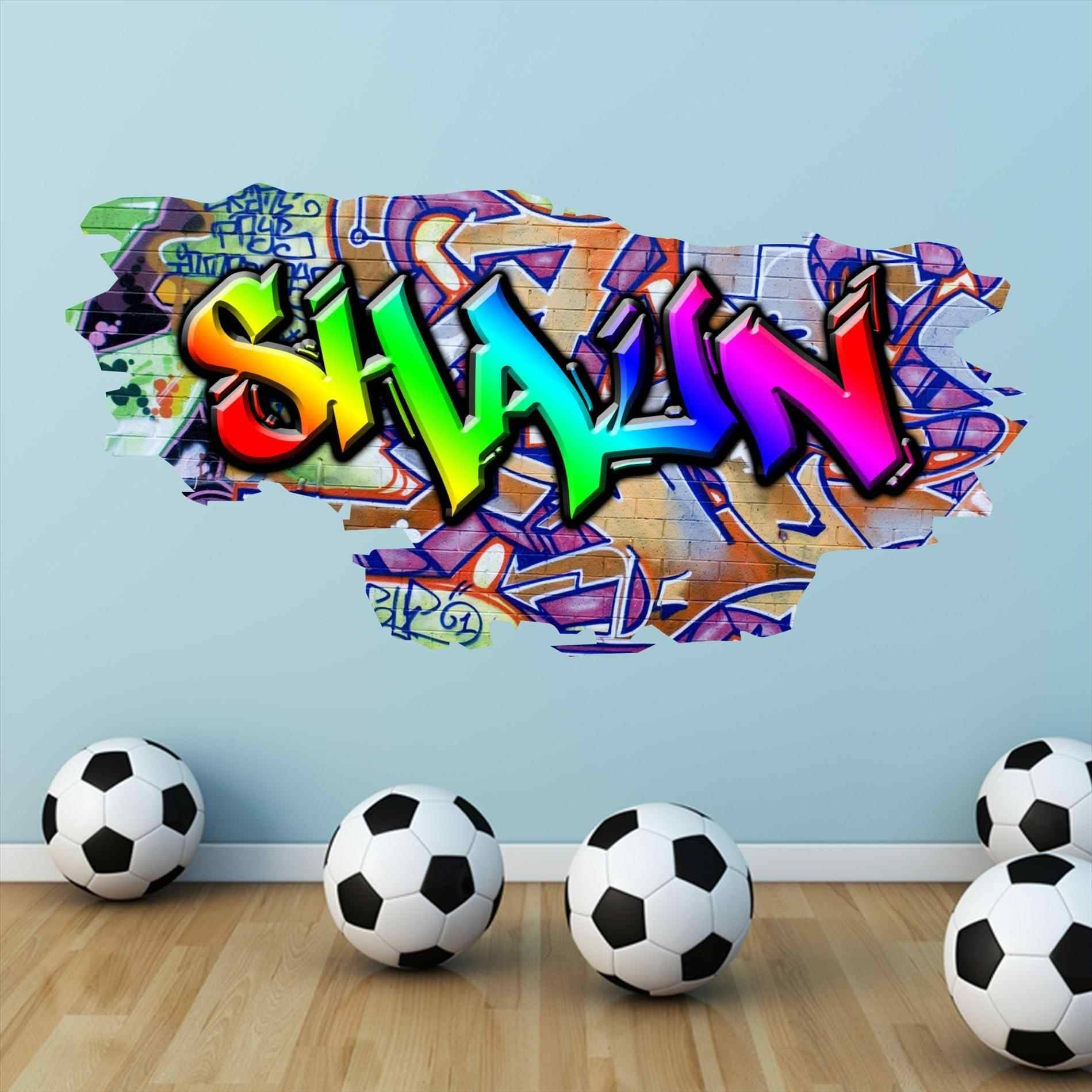 Personalized Graffiti Wall Decals | Home Interior Decor Intended For Most Recent Personalized Graffiti Wall Art (View 16 of 30)