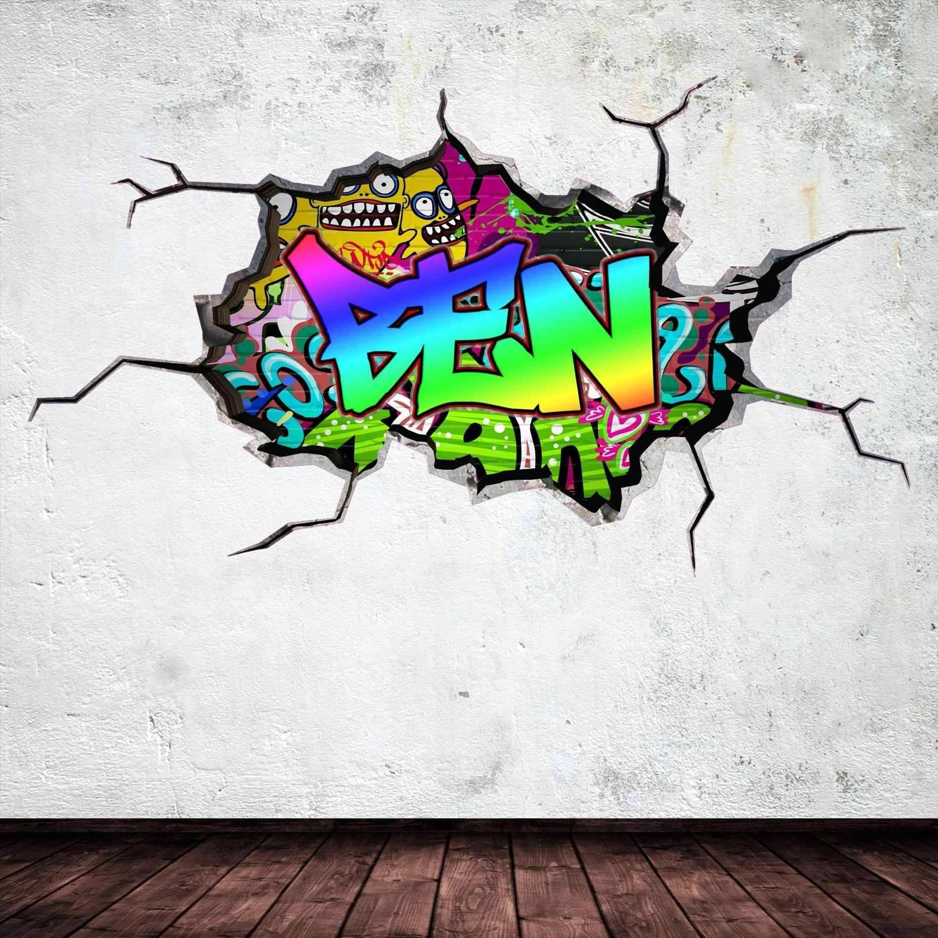 Personalized Graffiti Wall Decals | Home Interior Decor With Most Up To Date Personalized Graffiti Wall Art (View 7 of 30)
