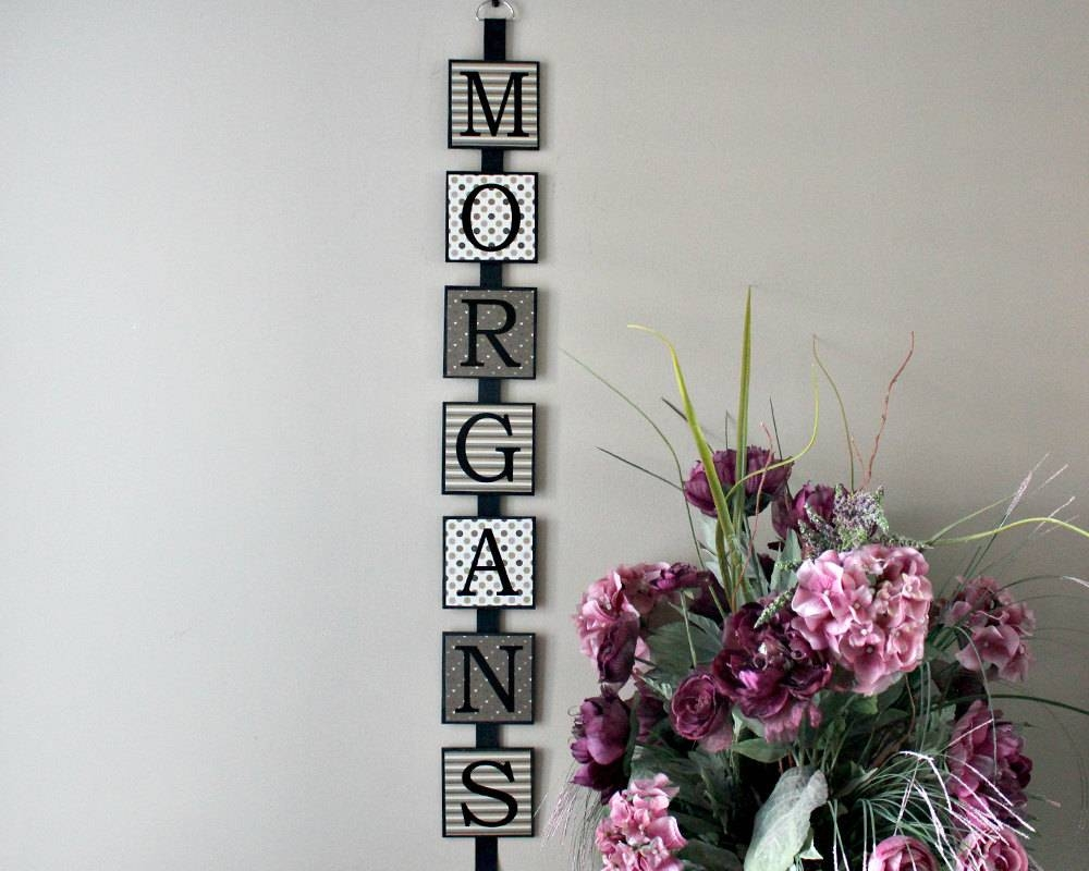 Personalized Last Name Wall Art Family Name Wall Art Wooden With Best And Newest Personalized Last Name Wall Art (View 13 of 20)