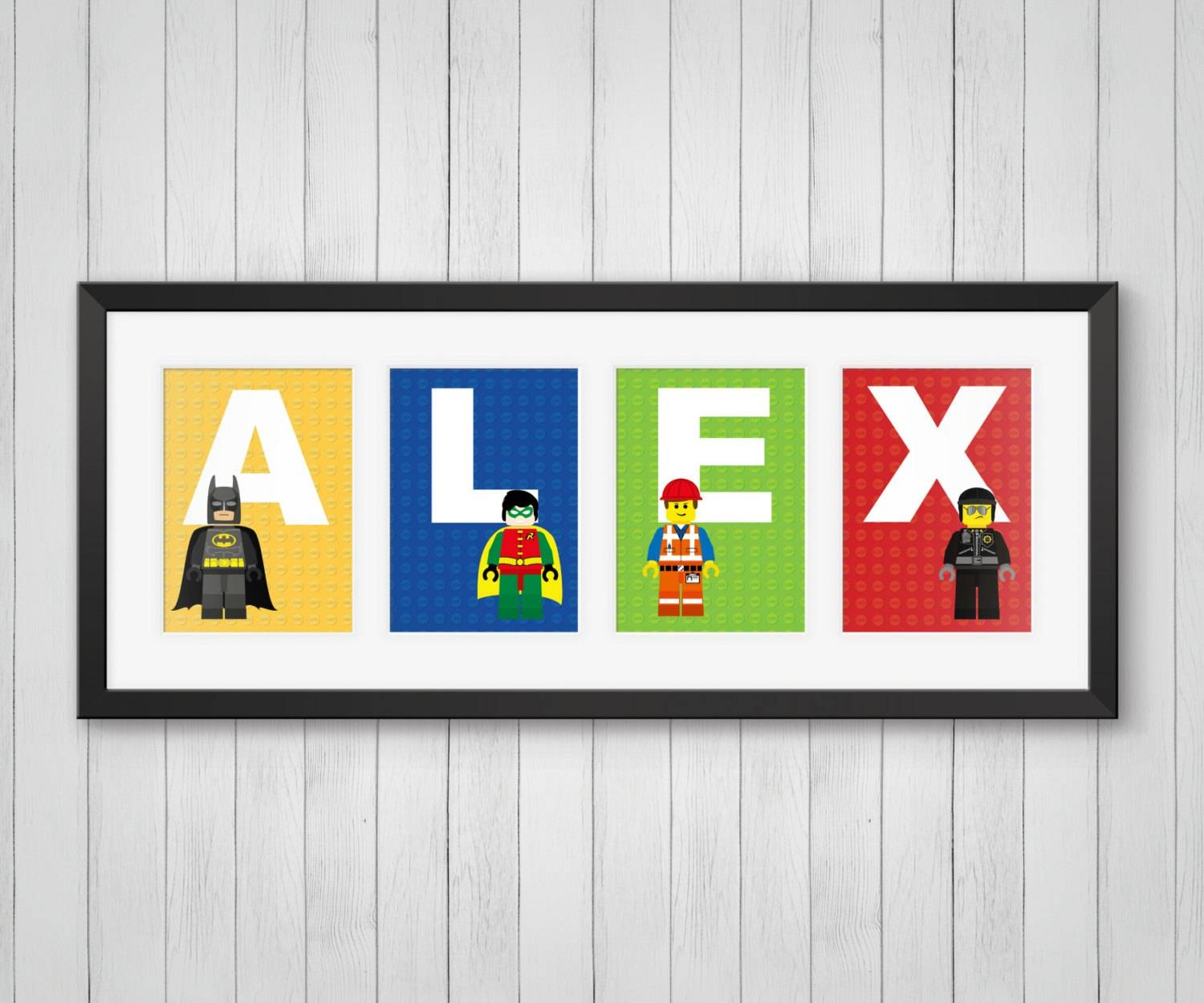Personalized Name Print Master Builders Kids Room Decor For Most Current Superhero Wall Art For Kids (View 9 of 25)