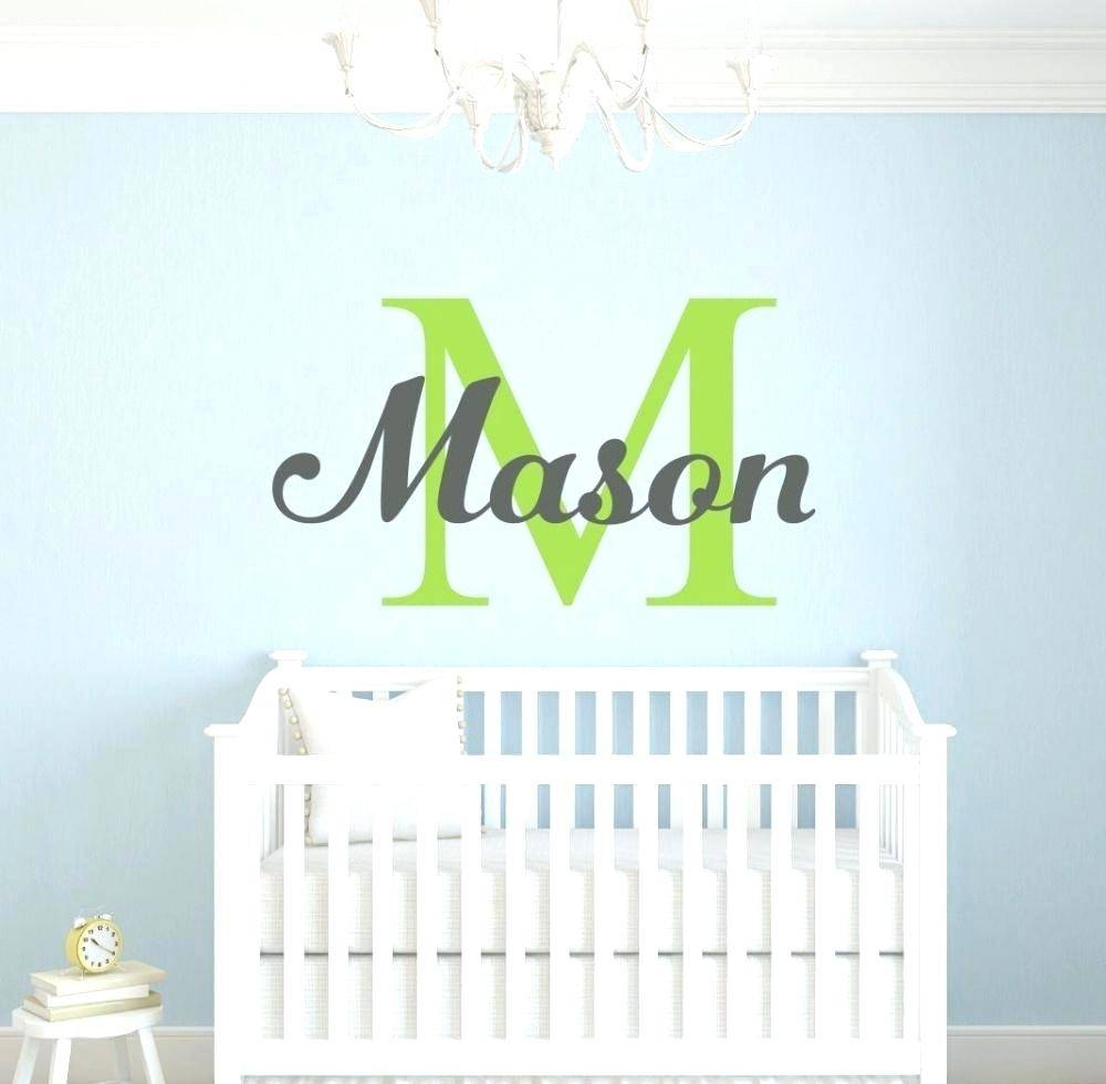 Personalized Photo Wall Decals Wall Ideas Last Name Initial Wall For Most Recent Personalized Baby Wall Art (View 11 of 20)