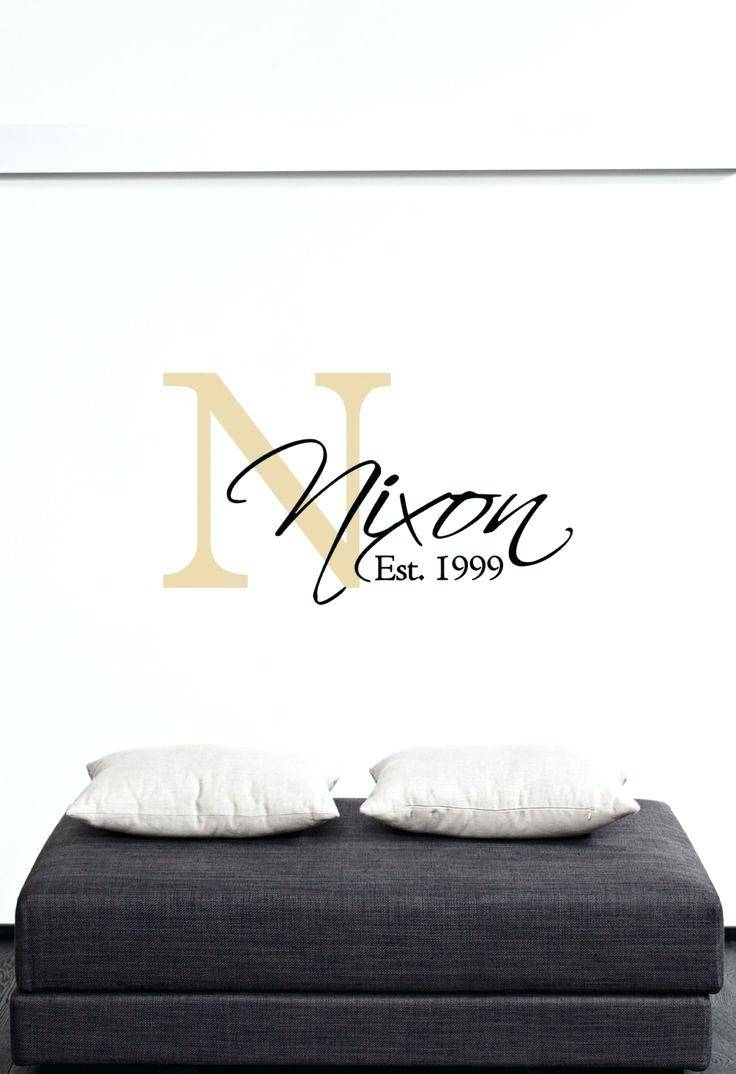 Personalized Wall Decals For Home Wall Ideas Last Name Initial Pertaining To Most Recently Released Personalized Last Name Wall Art (View 16 of 20)