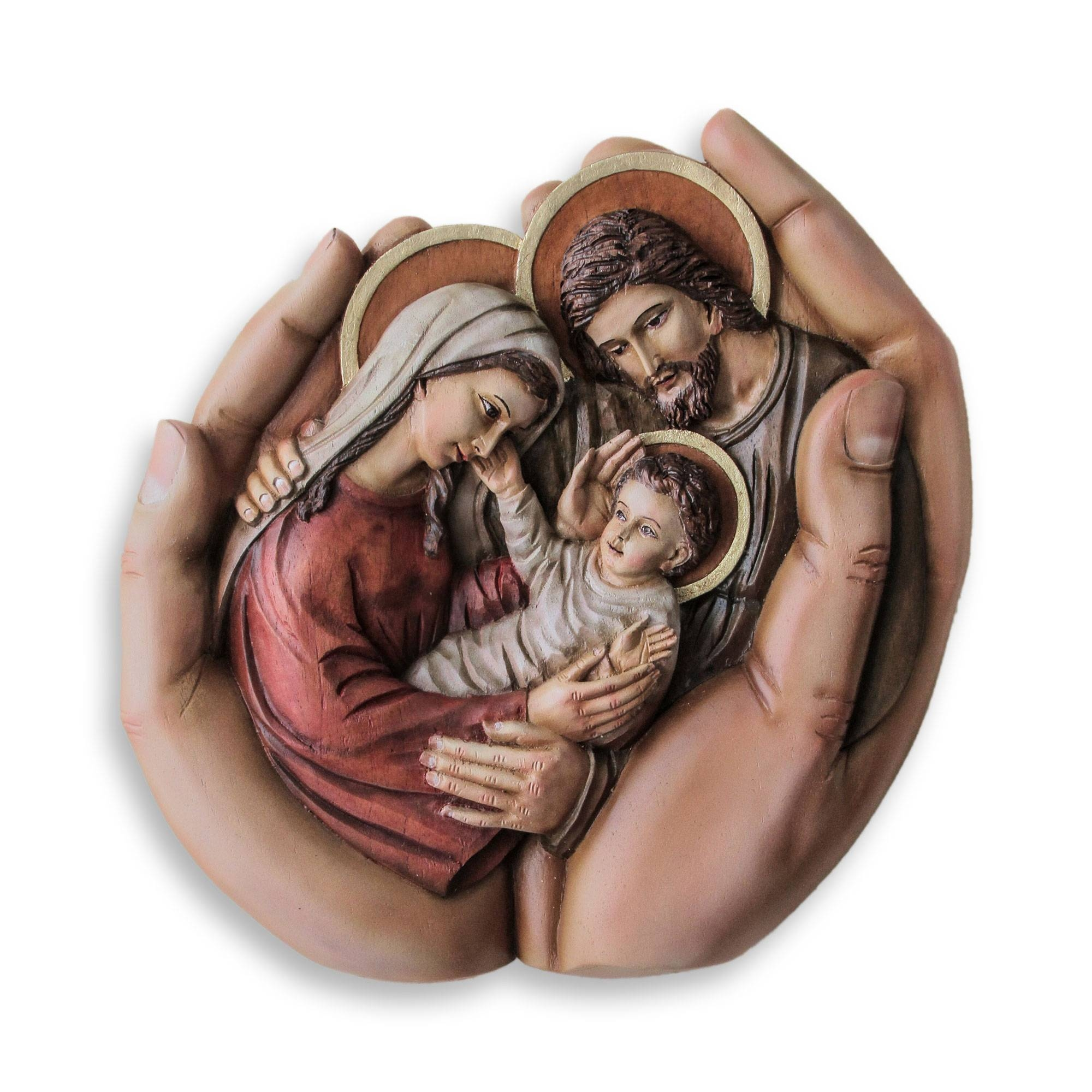 Peruvian Hand Carved Holy Family Cedar Wall Sculpture – In God's Intended For Newest Peruvian Wall Art (View 19 of 30)