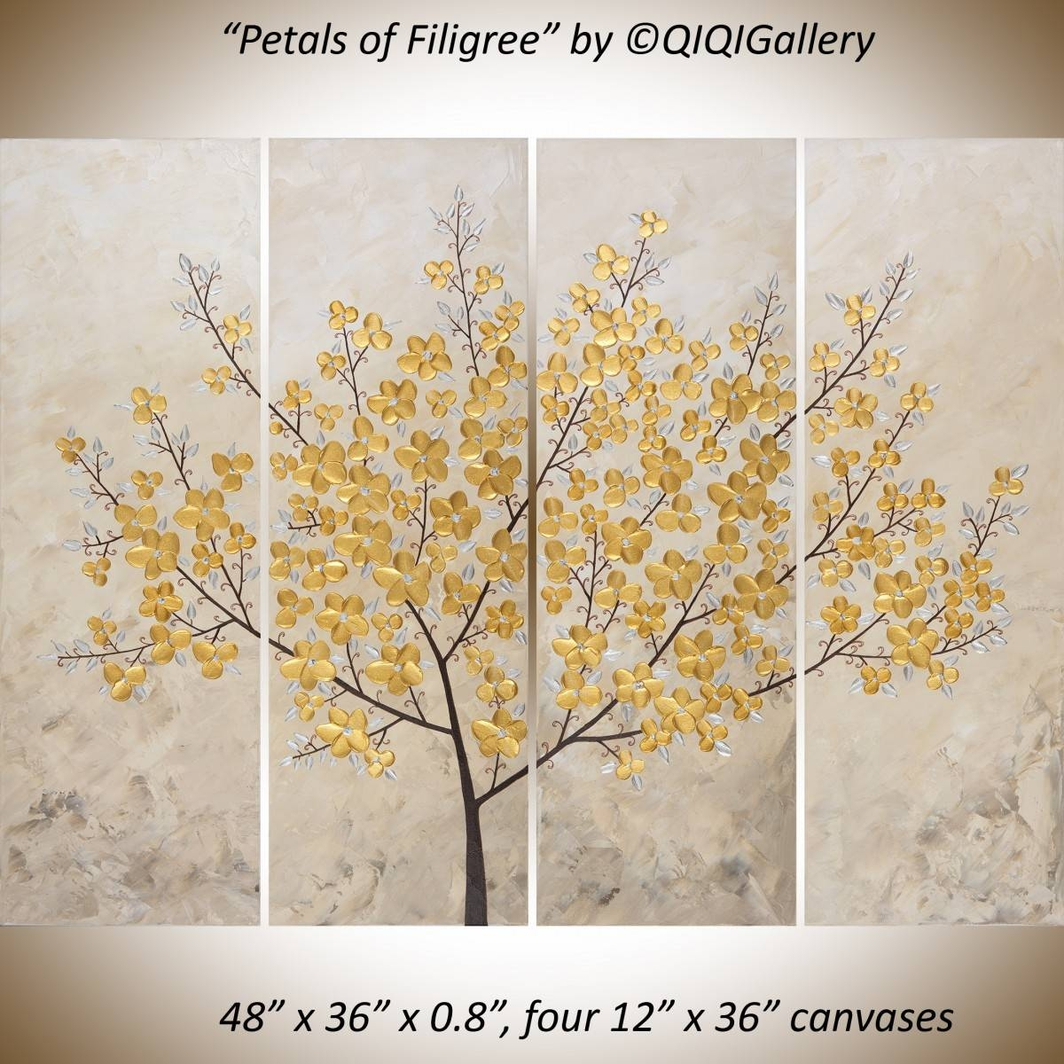 """Petals Of Filigreeqiqigallery 48"""" X 36"""" Original Modern Pertaining To Current Filigree Wall Art (View 21 of 30)"""