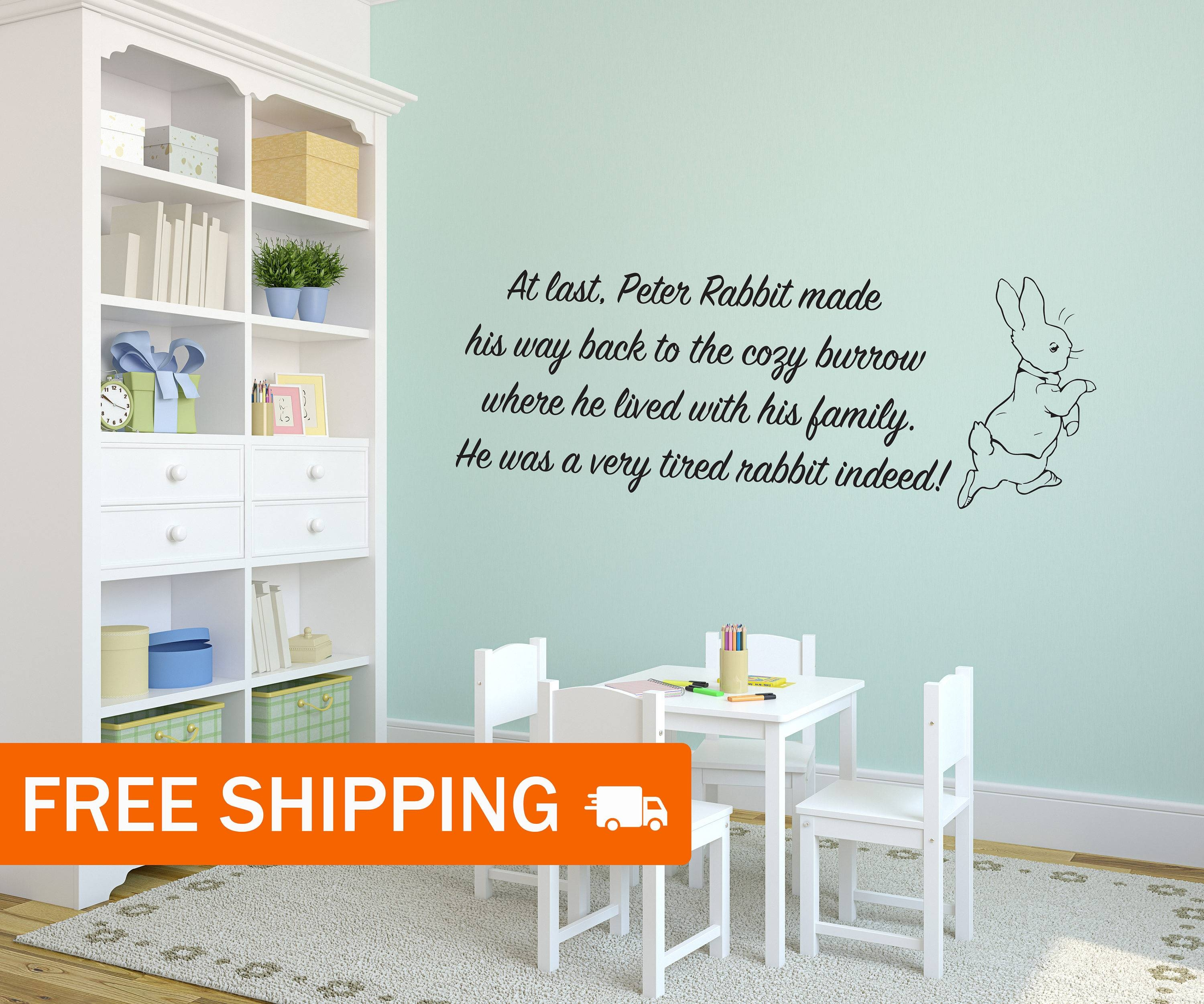 Peter Rabbit Interior Vinyl Wall Sticker / Wall Decoration / Regarding 2018 Peter Rabbit Wall Art (View 9 of 15)