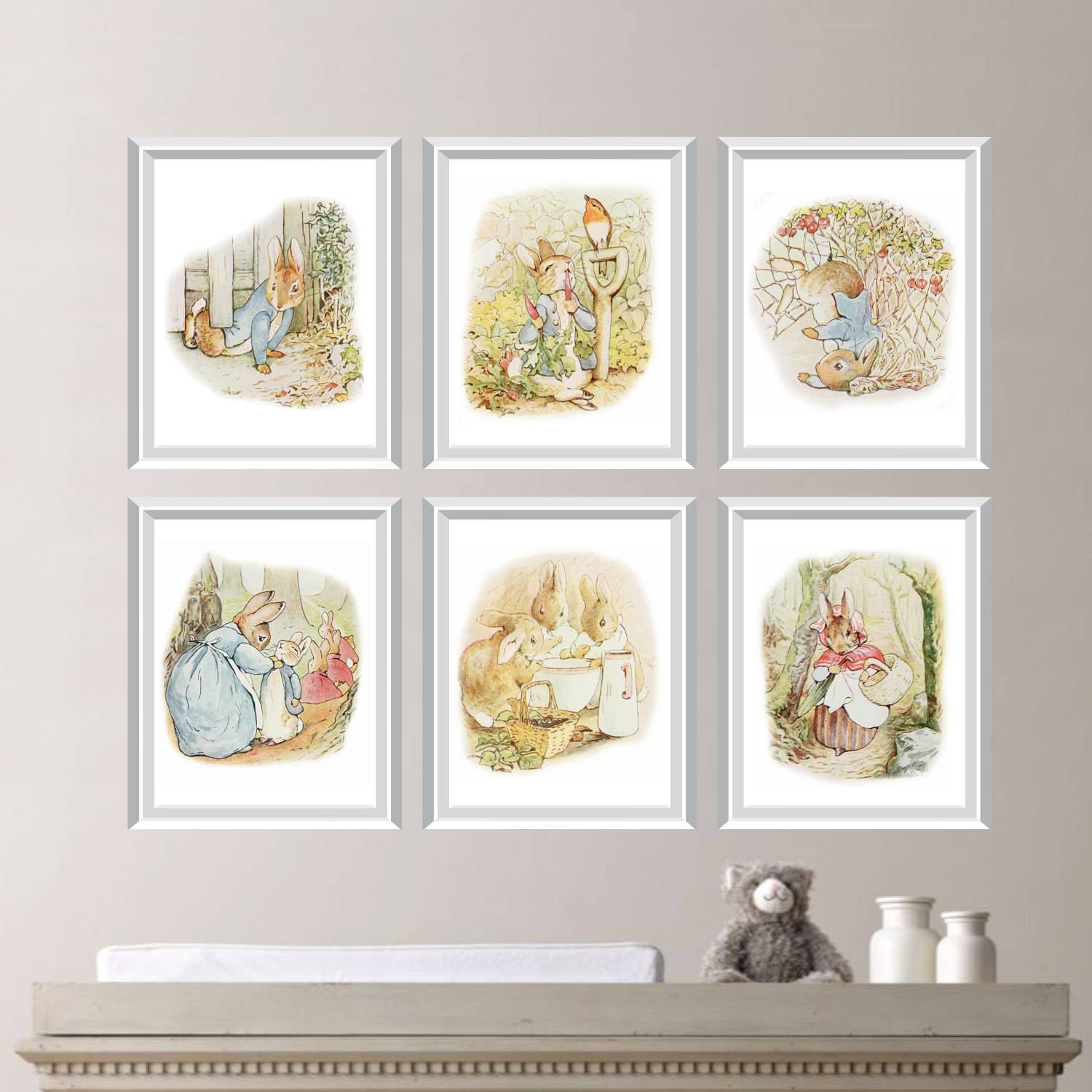 Peter Rabbit Nursery Decor. Baby Nursery Print Art (View 4 of 15)