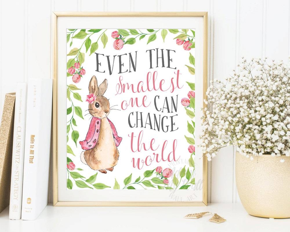 Peter Rabbit Nursery Prints Baby Shower Beatrix Potter In 2018 Peter Rabbit Wall Art (View 2 of 15)