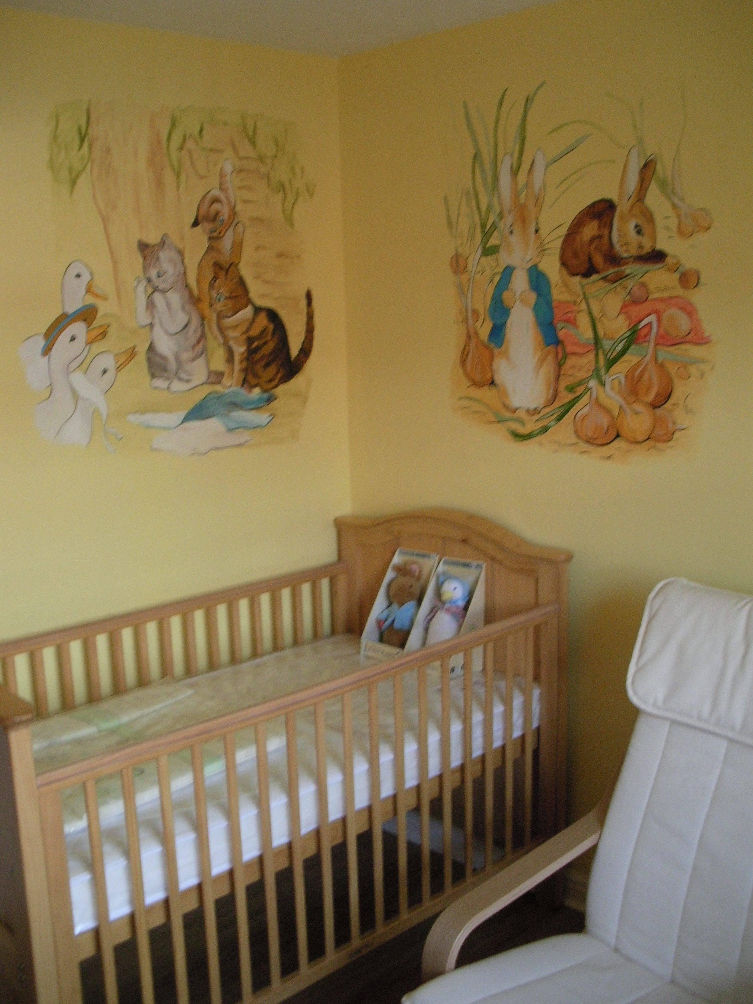 Peter Rabbit Nursery Purple — Modern Home Interiors : Peter Rabbit Throughout Recent Peter Rabbit Wall Art (View 9 of 15)