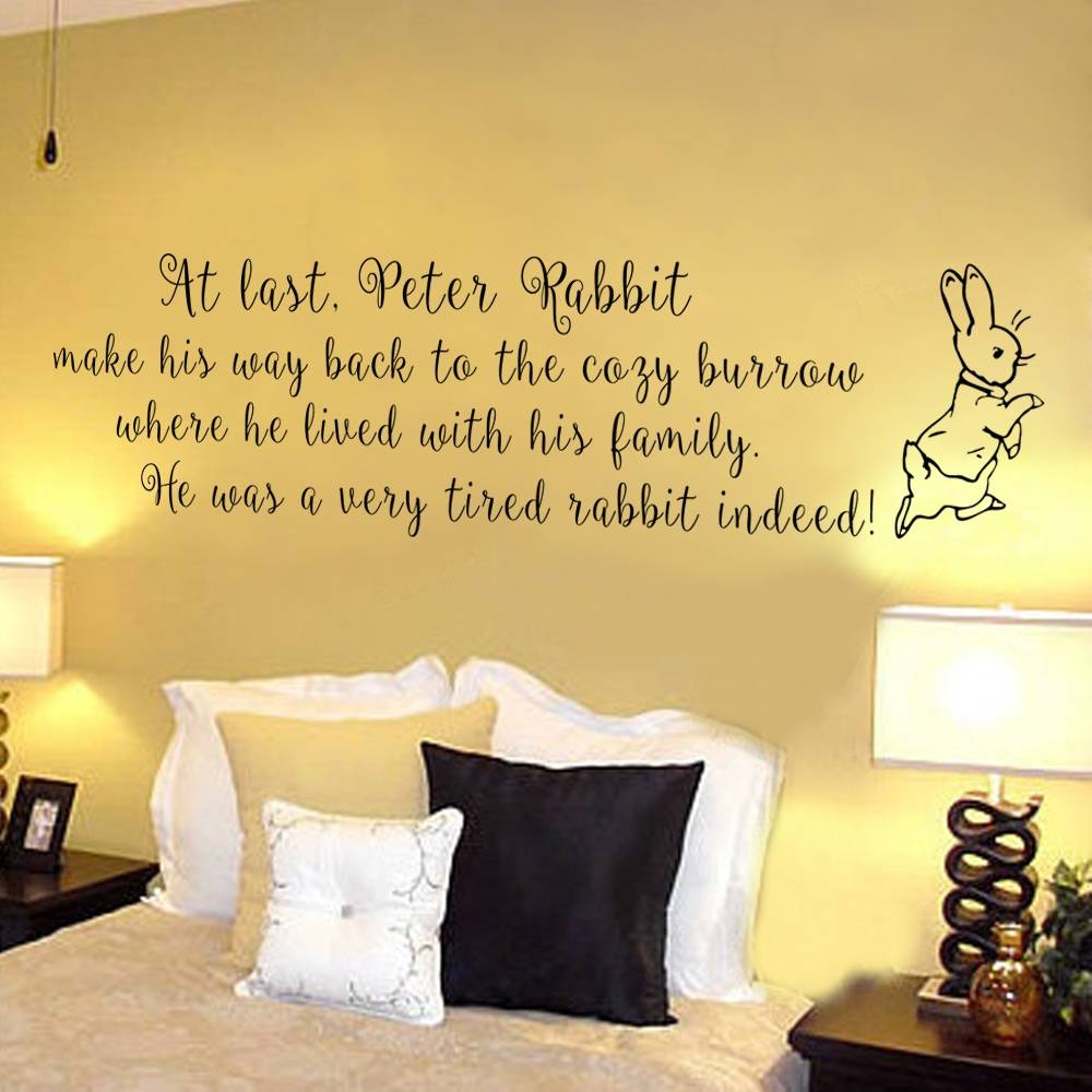 Peter Rabbit Wall Decal Baby Nursery Wall Sticker Home Decor Intended For 2017 Peter Rabbit Wall Art (View 6 of 15)