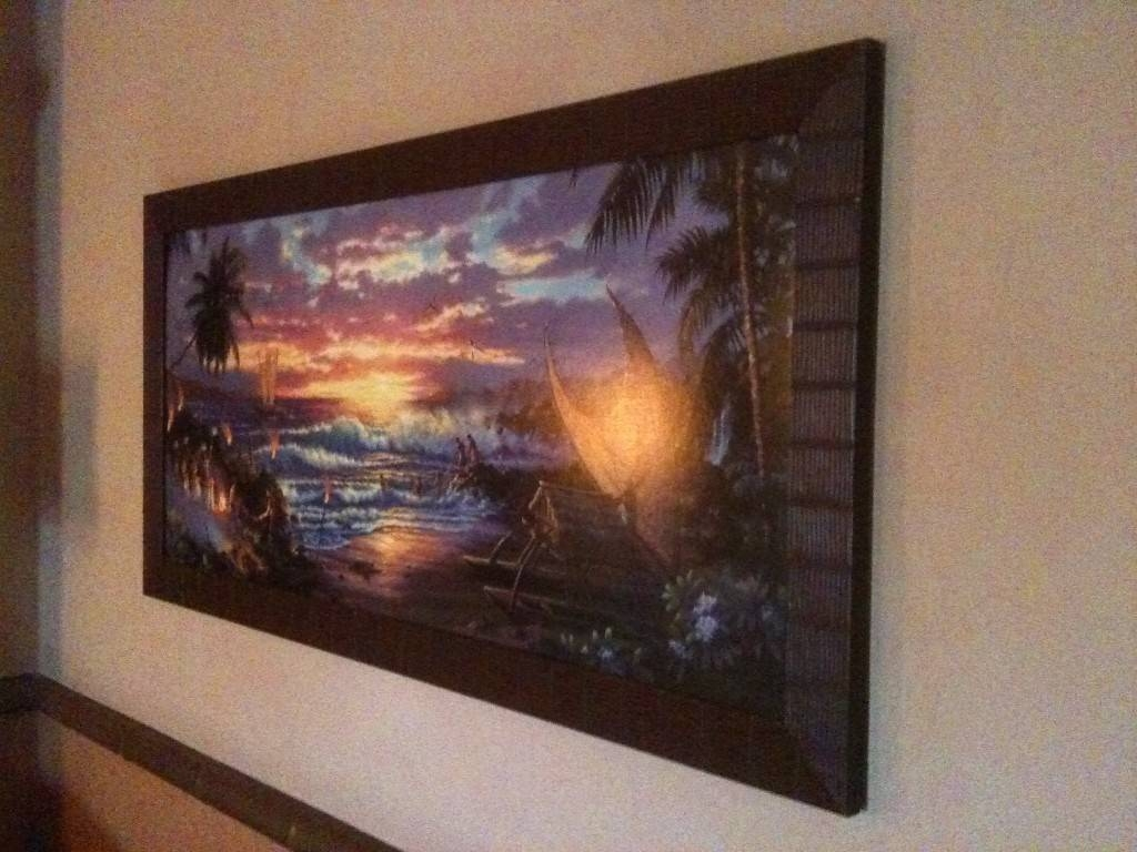 Photo Tour Of Our Concierge Room At Disney's Polynesian Resort Throughout Most Recent Polynesian Wall Art (View 6 of 20)