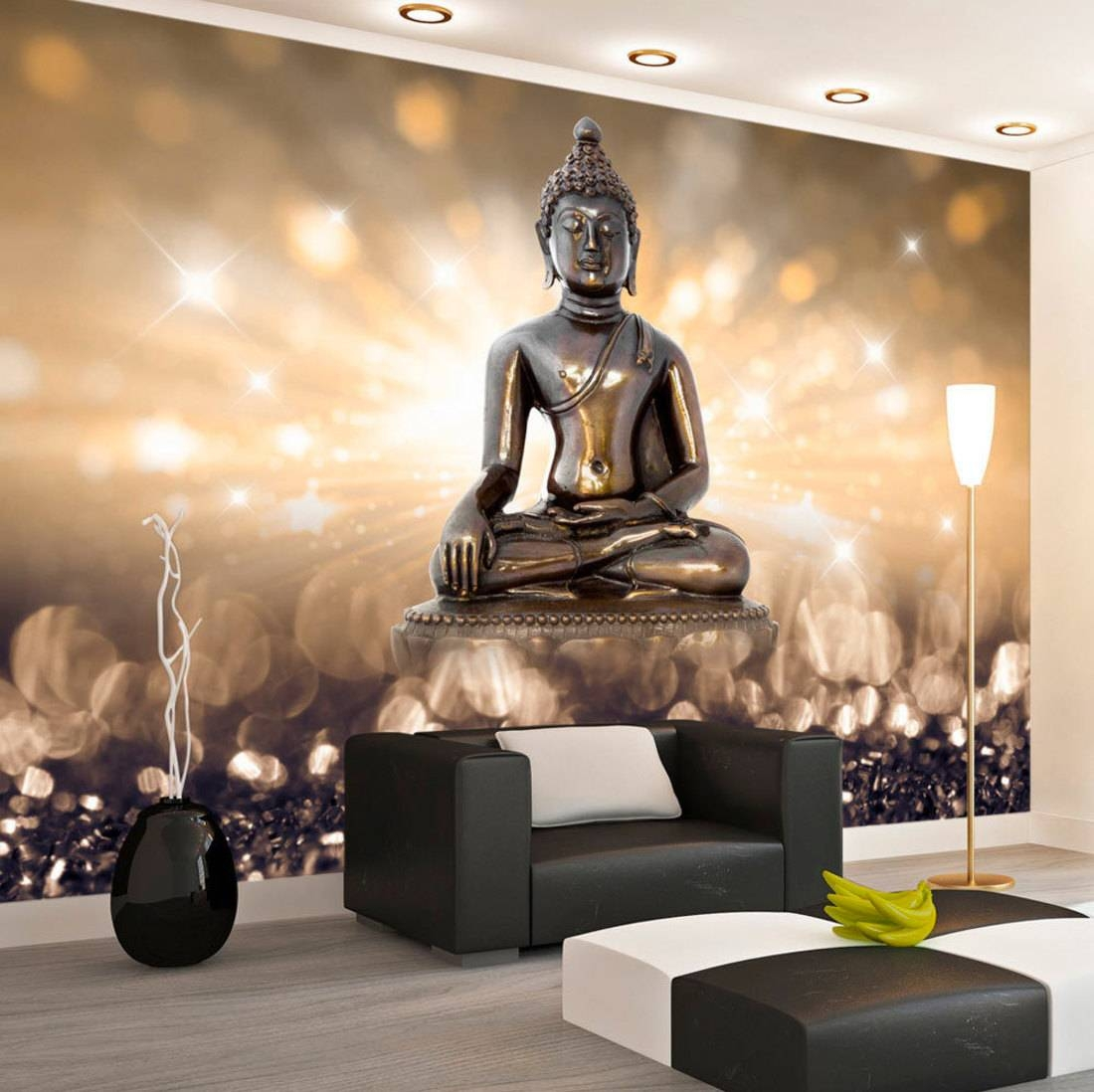 Photo Wallpaper Wall Murals Non Woven 3d Modern Art Buddha For Current 3d Buddha Wall Art (View 9 of 20)