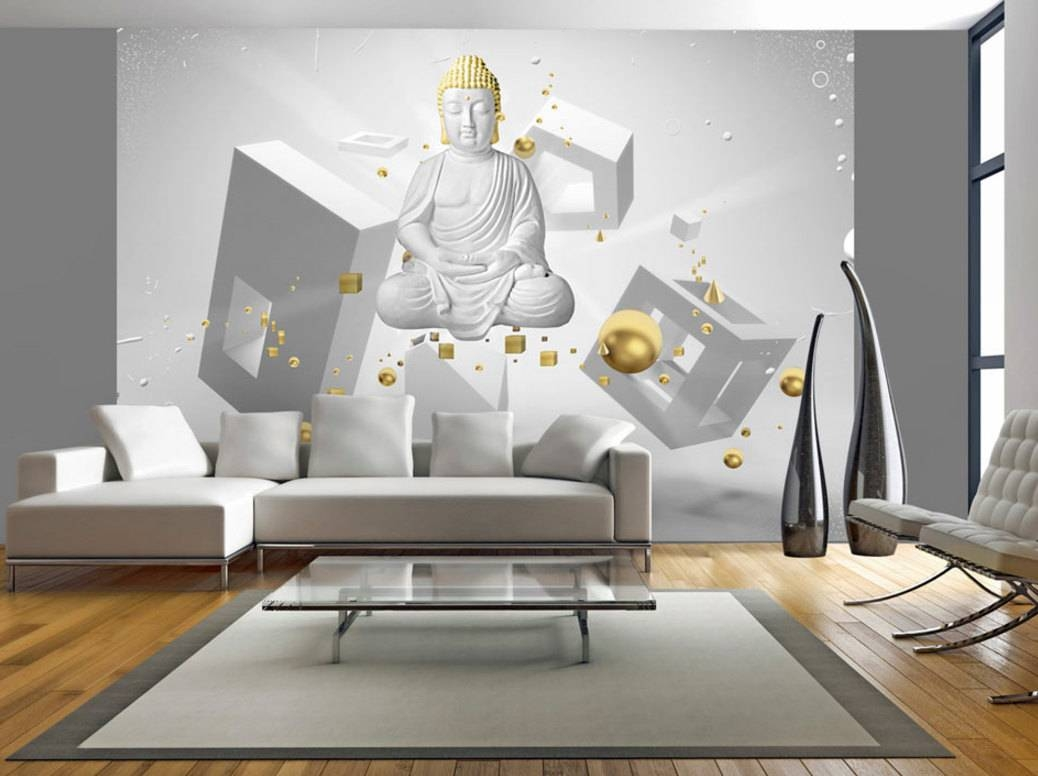 Photo Wallpaper Wall Murals Non Woven 3d Modern Art Buddha For Most Recent Optical Illusion Wall Art (View 3 of 20)