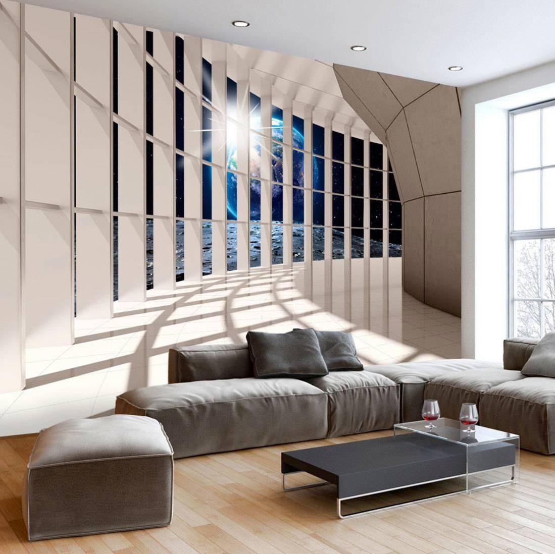 Photo Wallpaper Wall Murals Non Woven 3d Modern Art Optical For Recent Illusion Wall Art (View 18 of 20)