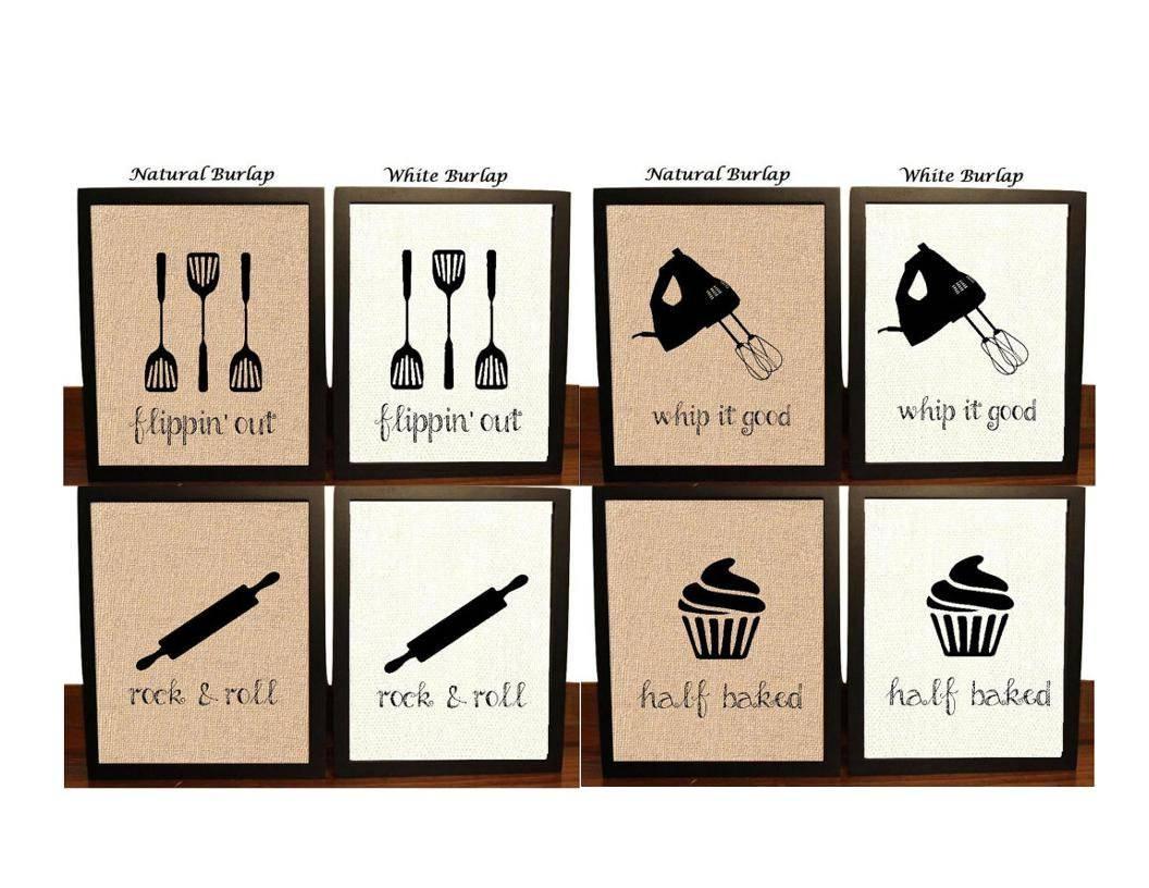 Pick 4 Kitchen Wall Decor Kitchen Sign Kitchen Art Kitchen Intended For Recent Kitchen Wall Art (View 3 of 25)